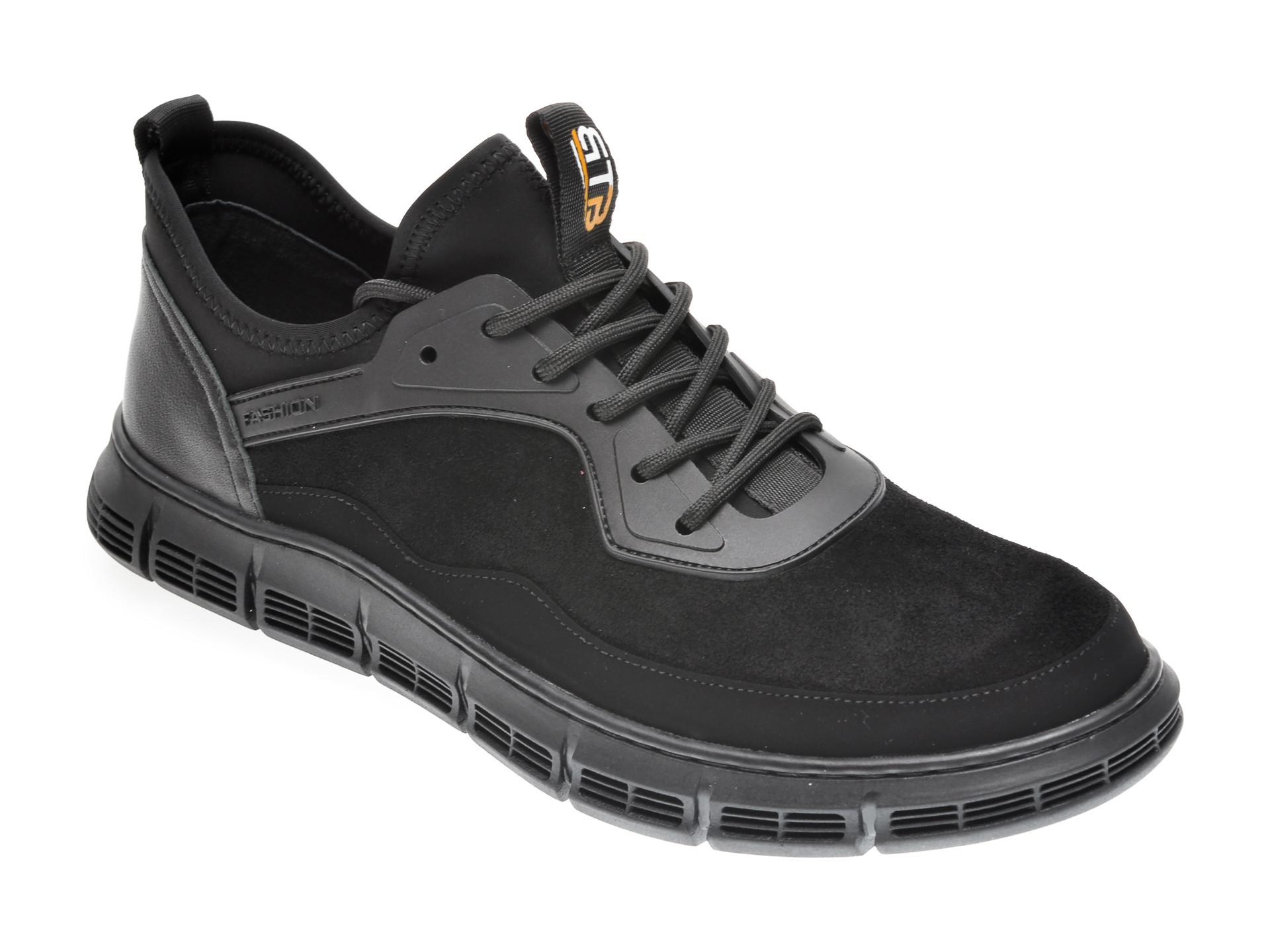 Pantofi BITE THE BULLET negri, YD99520, din piele ecologica imagine