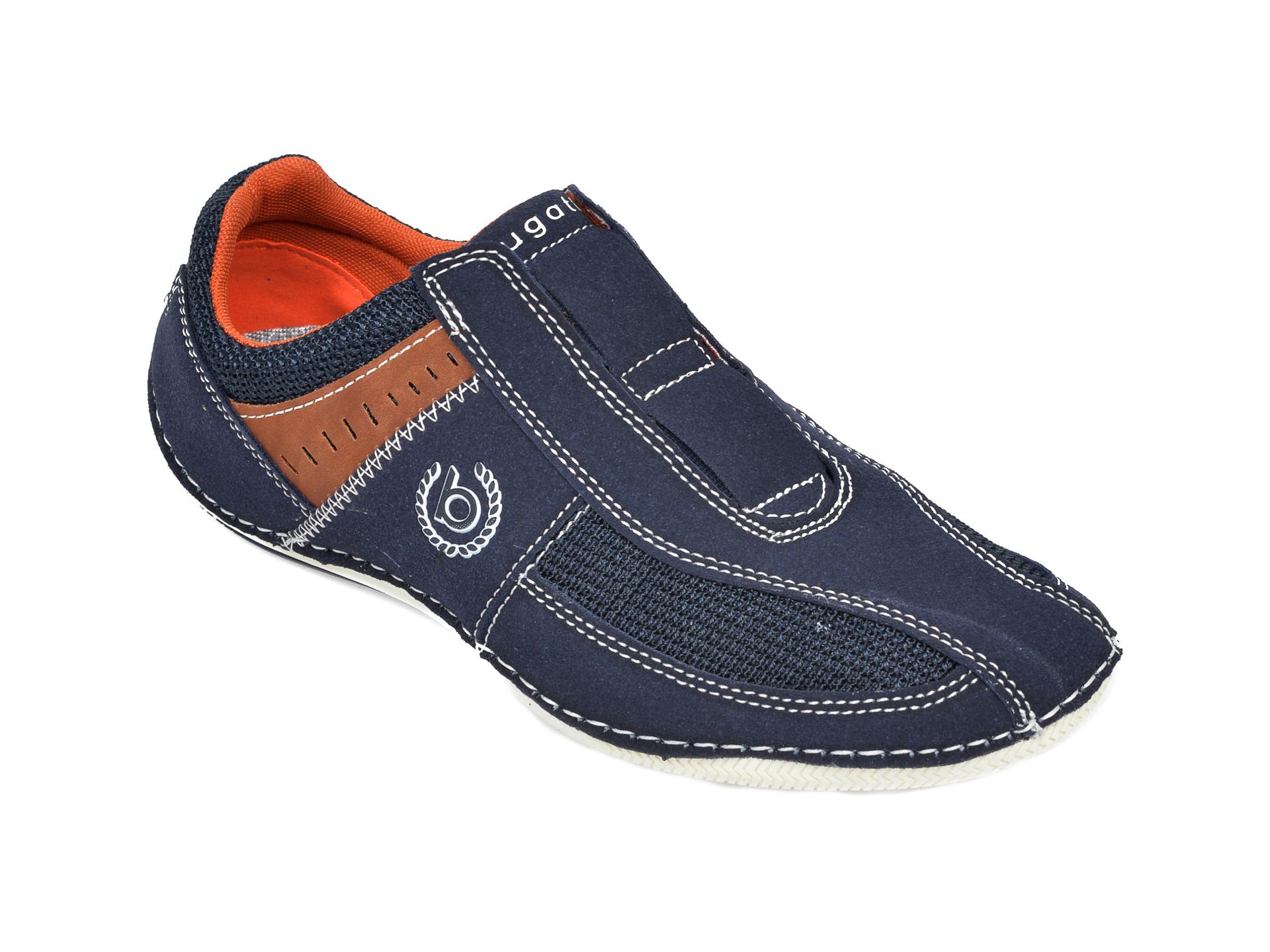 Pantofi BUGATTI bleumarin, 48067, din material textil si piele ecologica imagine