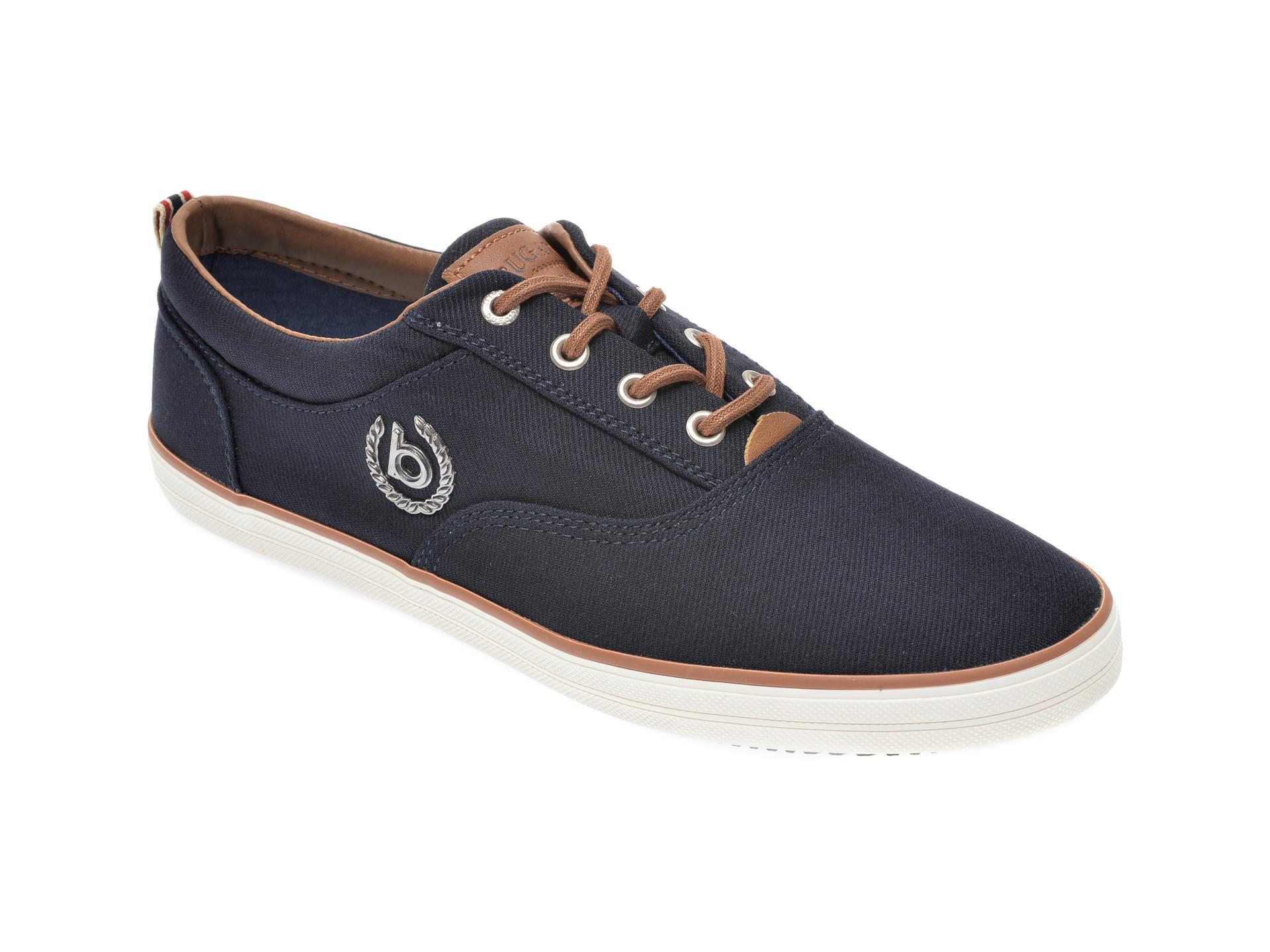 Pantofi BUGATTI bleumarin, 50204, din material textil imagine