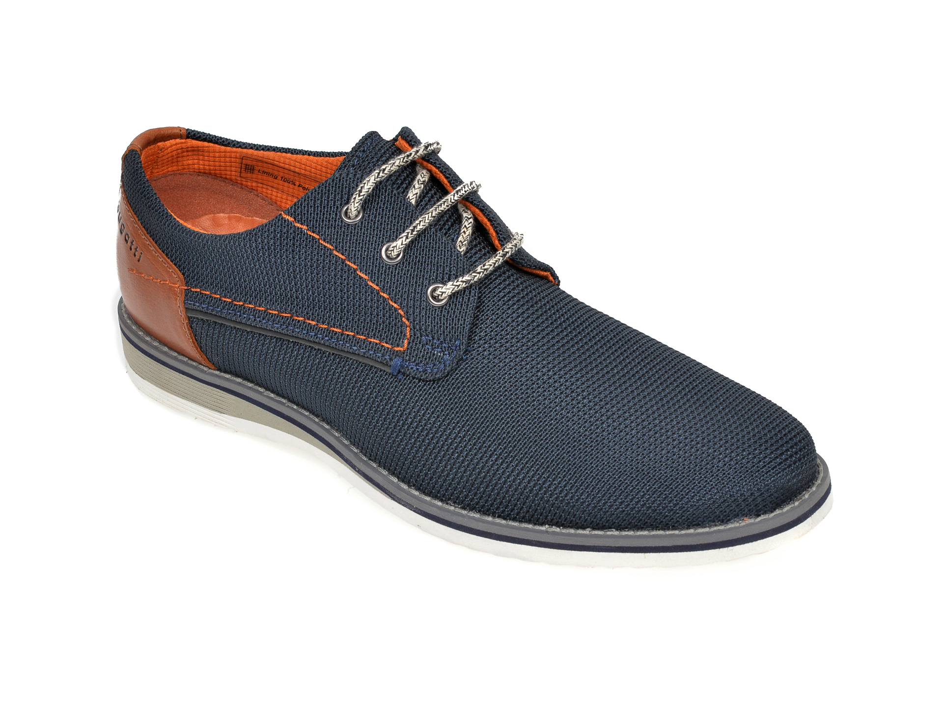 Pantofi BUGATTI bleumarin, 68403, din material textil imagine