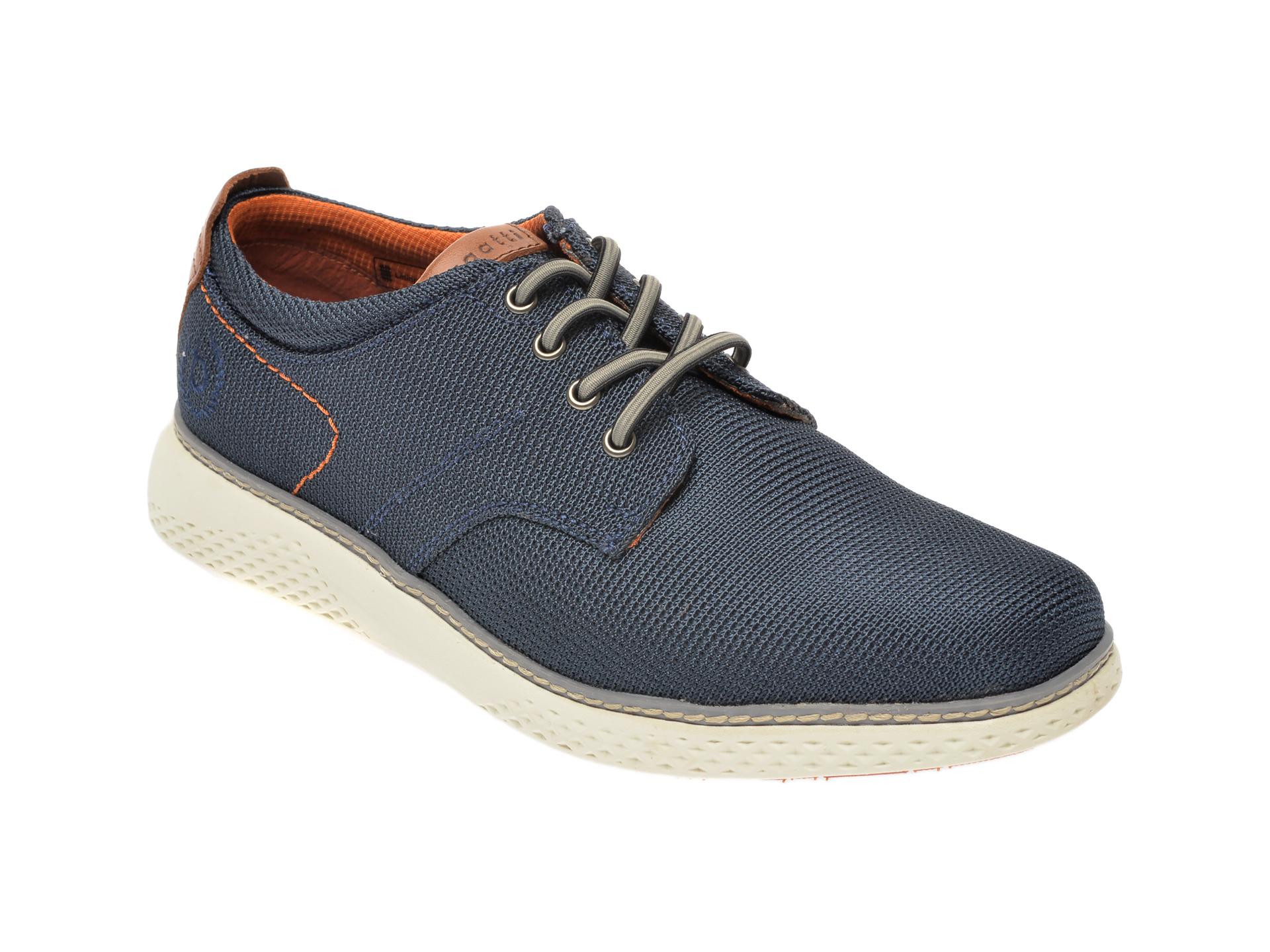Pantofi BUGATTI bleumarin, 76303, din material textil imagine