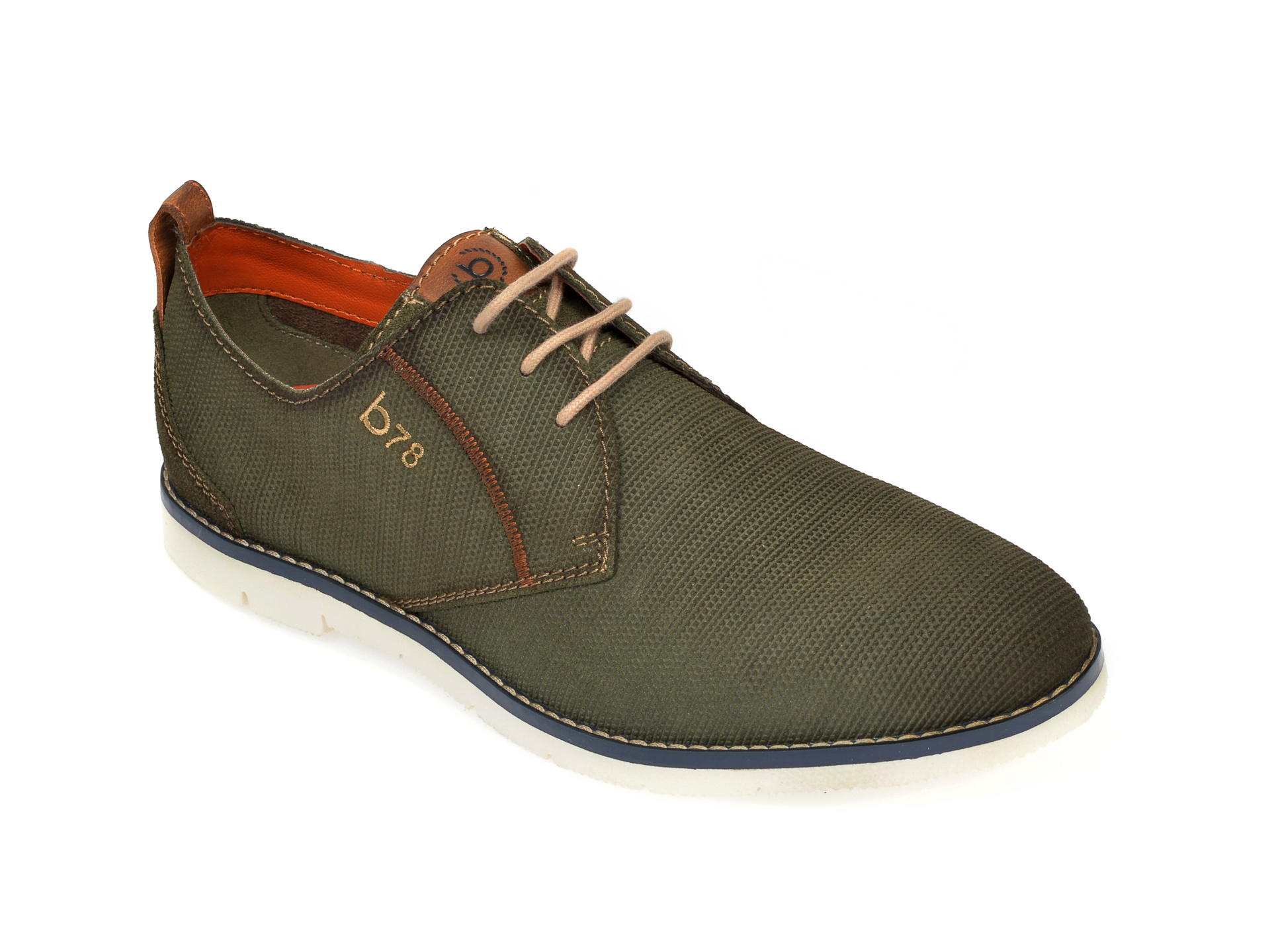 Pantofi BUGATTI kaki, 91901, din piele intoarsa imagine
