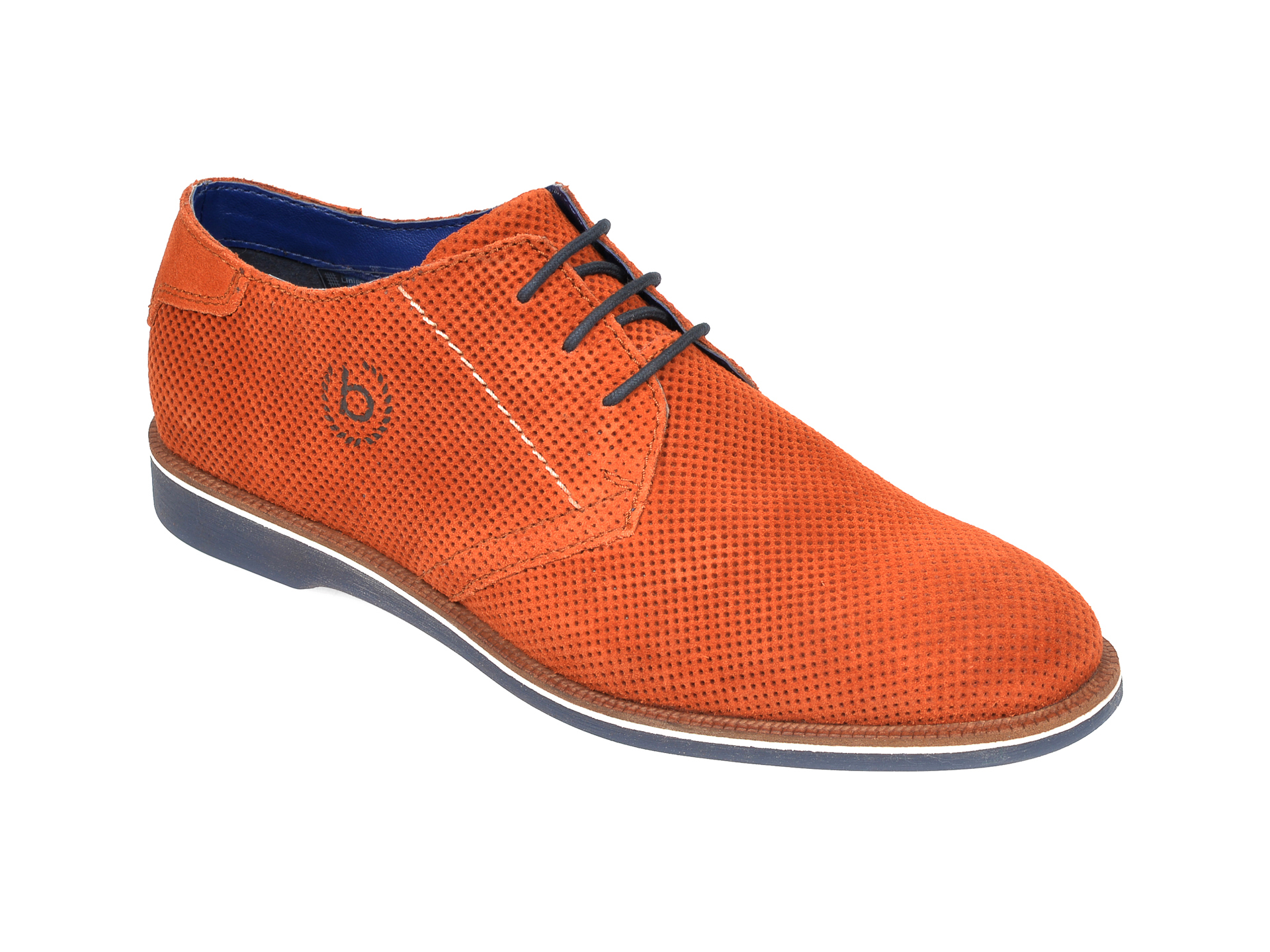 Pantofi BUGATTI maro, 64706, din piele intoarsa