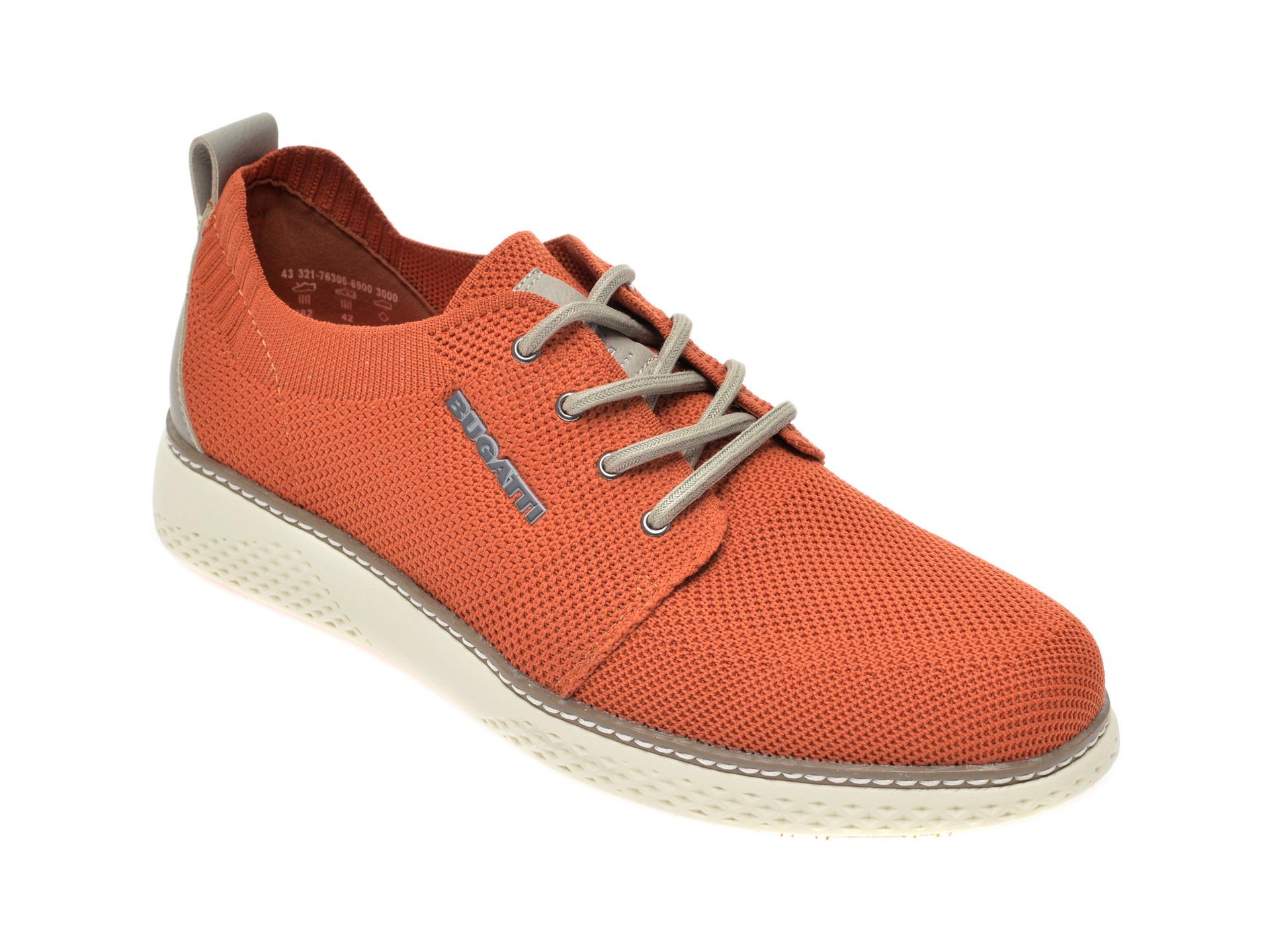 Pantofi BUGATTI maro, 76306, din material textil