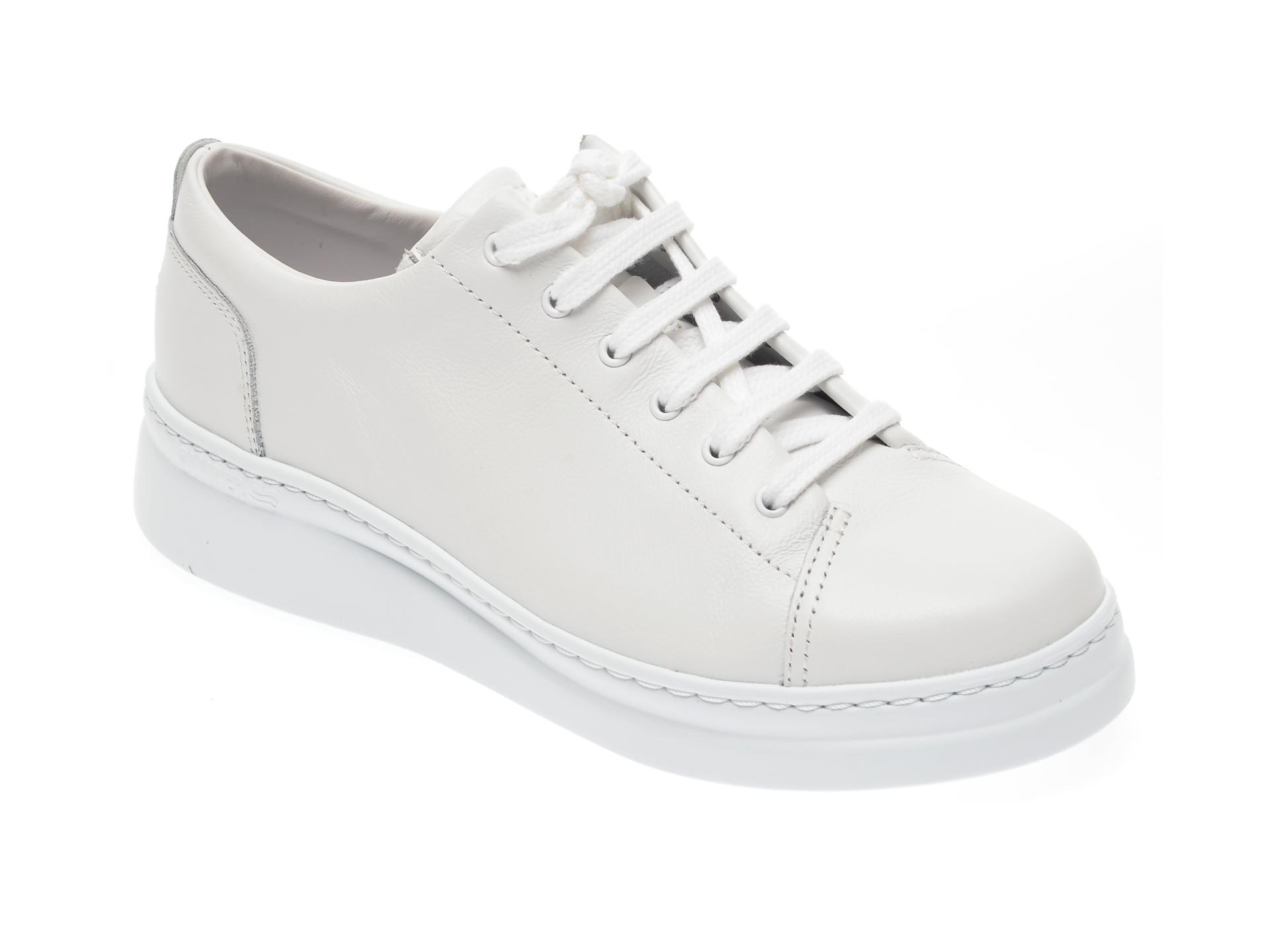 Pantofi CAMPER albi, K200508, din piele naturala imagine