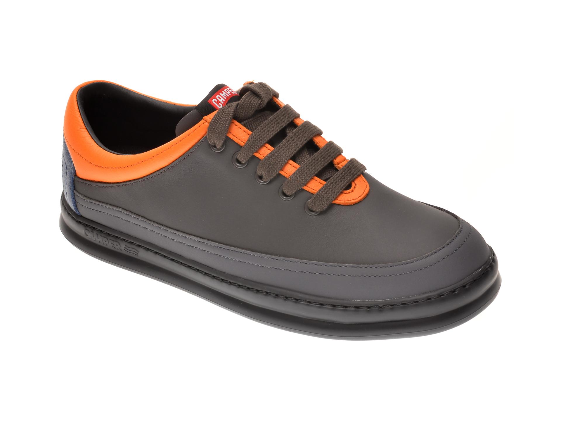 Pantofi CAMPER gri, K100631, din piele naturala imagine