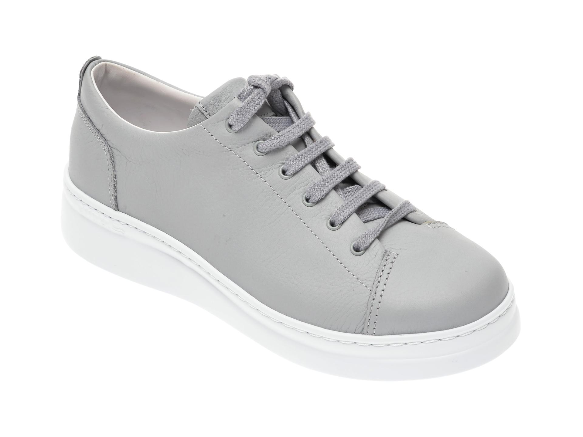 Pantofi CAMPER gri, K200508, din piele naturala imagine