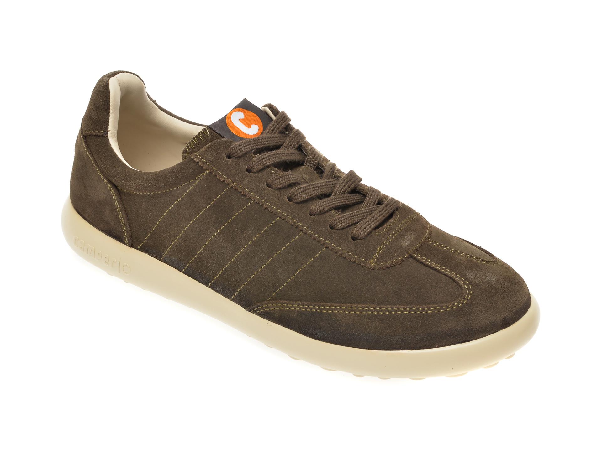 Pantofi CAMPER kaki, K100588, din piele intoarsa imagine
