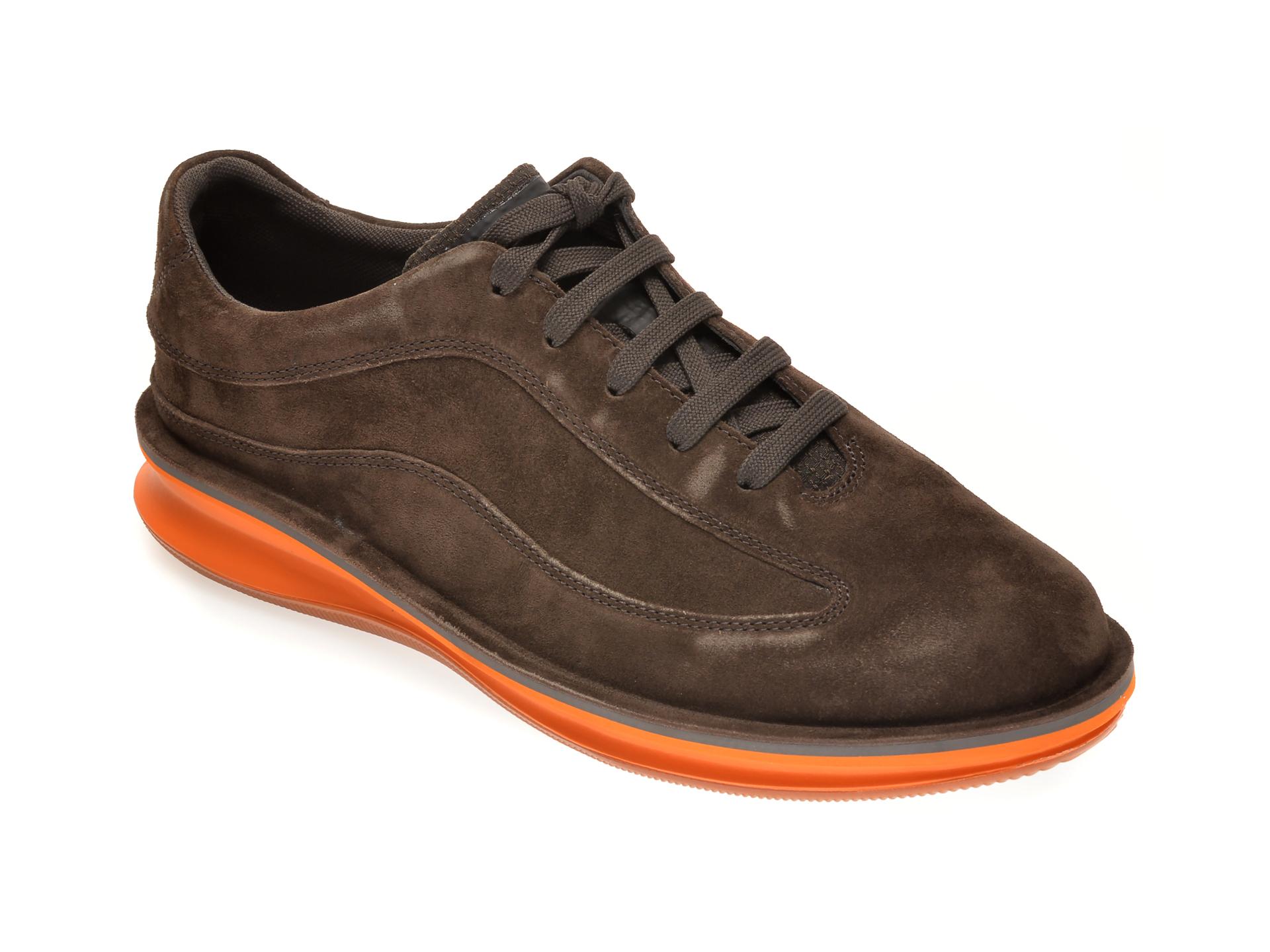 Pantofi CAMPER maro, K100390, din piele intoarsa