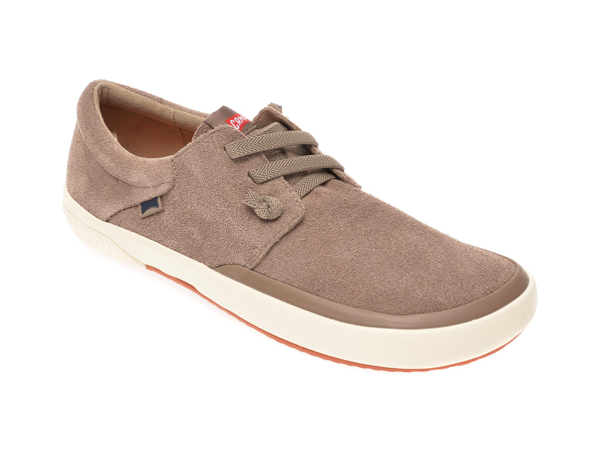 Pantofi CAMPER maro, K100414, din piele intoarsa
