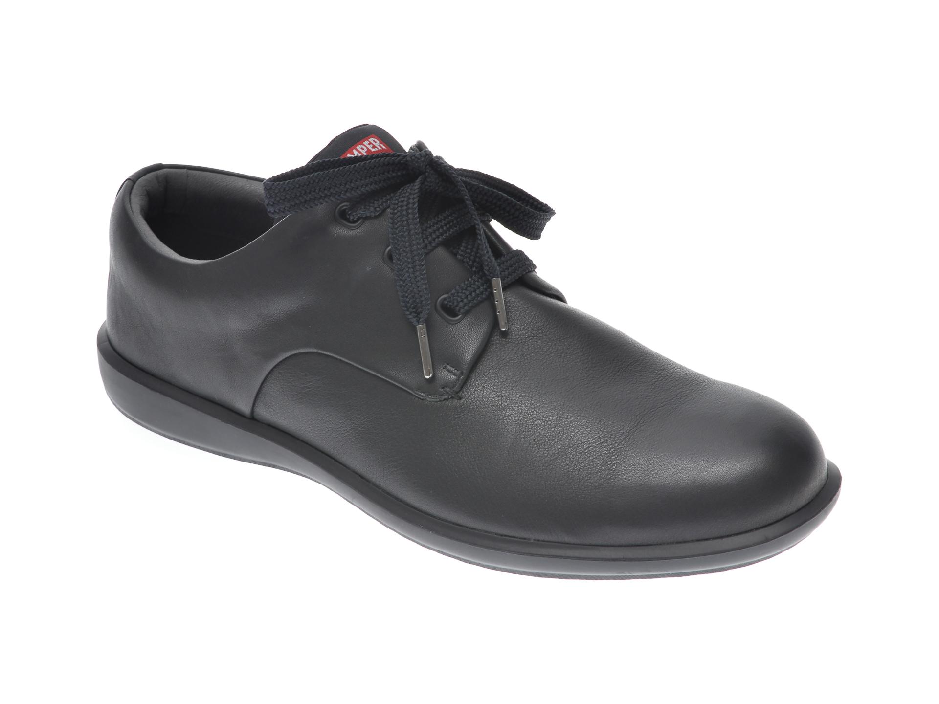 Pantofi CAMPER negri, 18637, din piele naturala imagine