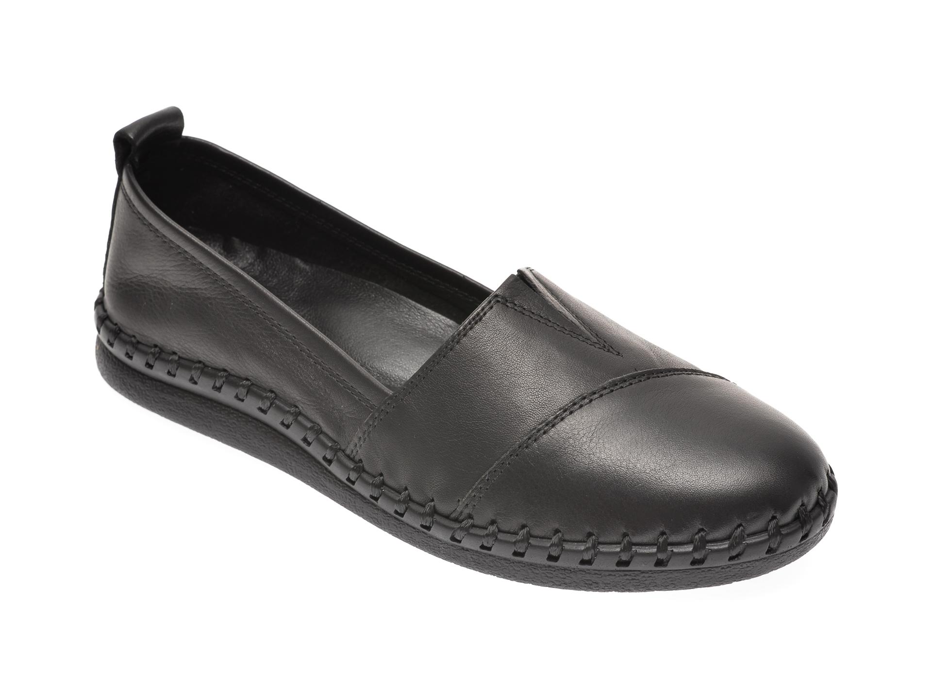 Pantofi CITY SIGN negri, 6016, din piele naturala New