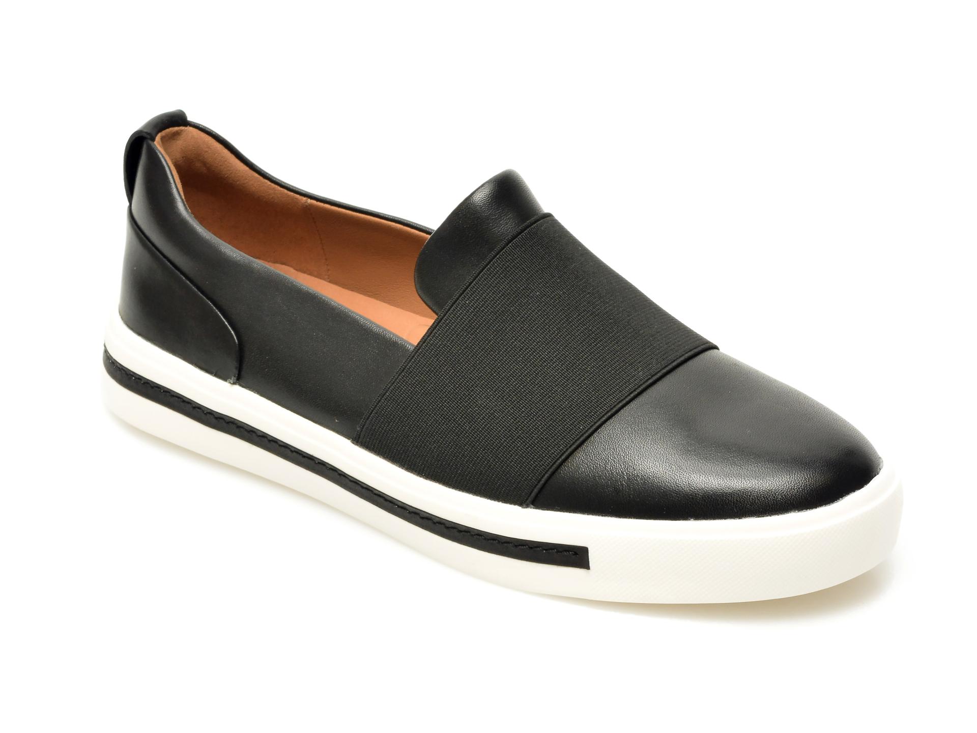 Pantofi CLARKS alb-negru, Hero Brogue., din piele naturala