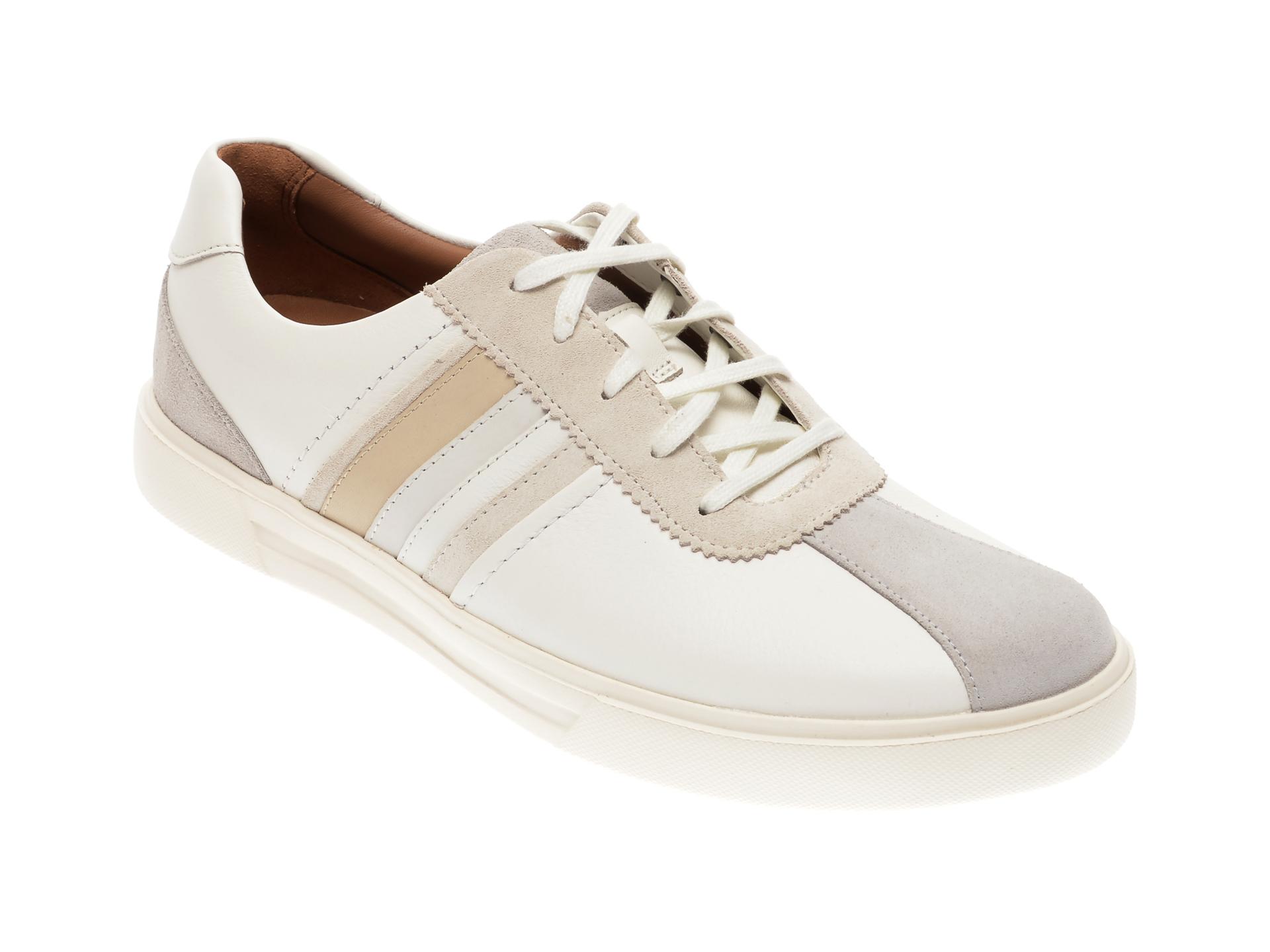 Pantofi CLARKS albi, Un Costa Band, din piele naturala imagine
