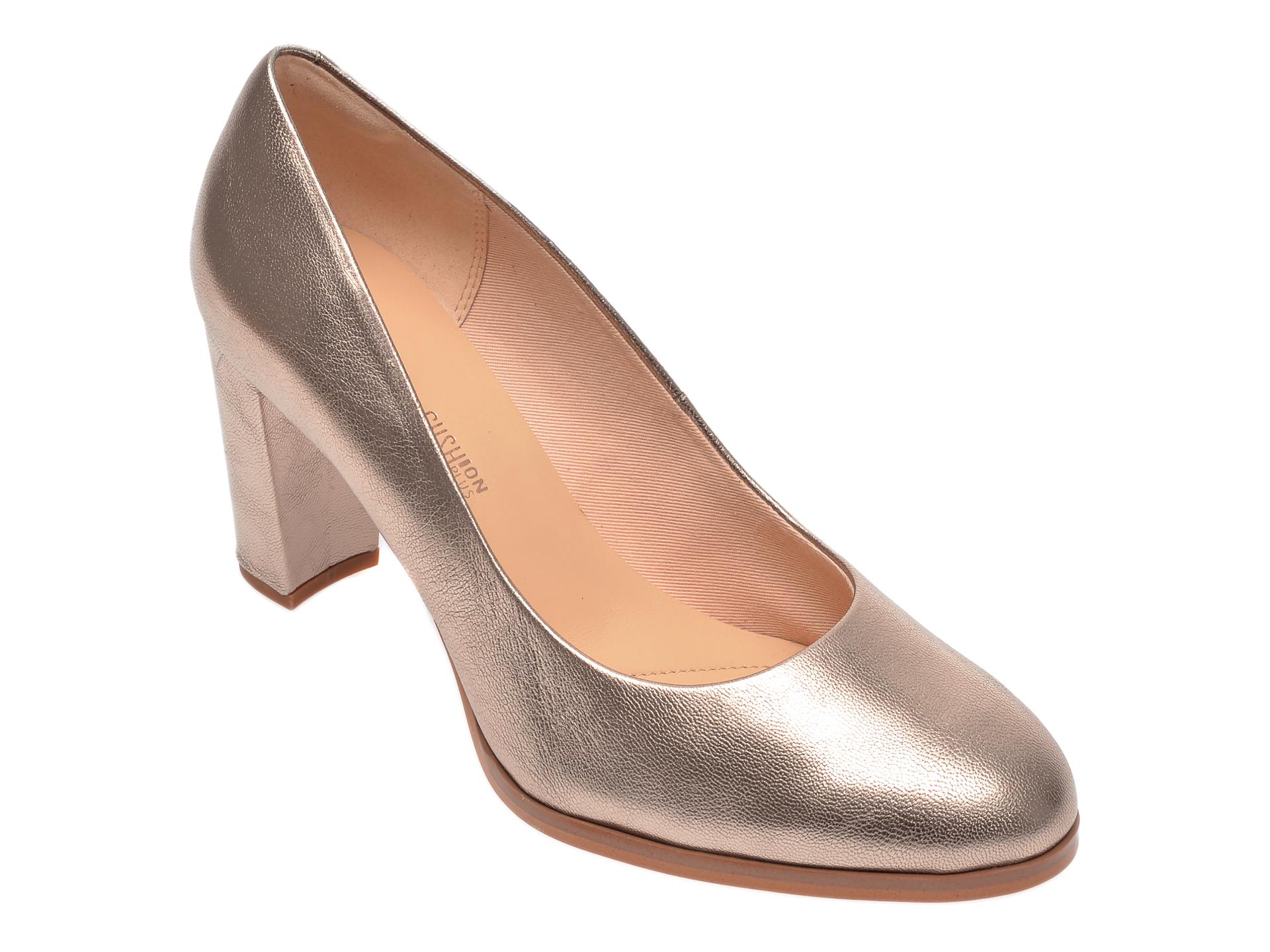 Pantofi CLARKS aurii, Kaylin Cara, din piele naturala imagine