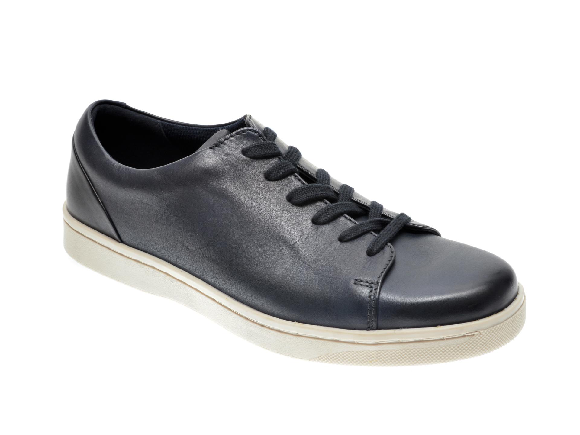 Pantofi CLARKS bleumarin, KITNA LO, din piele naturala imagine