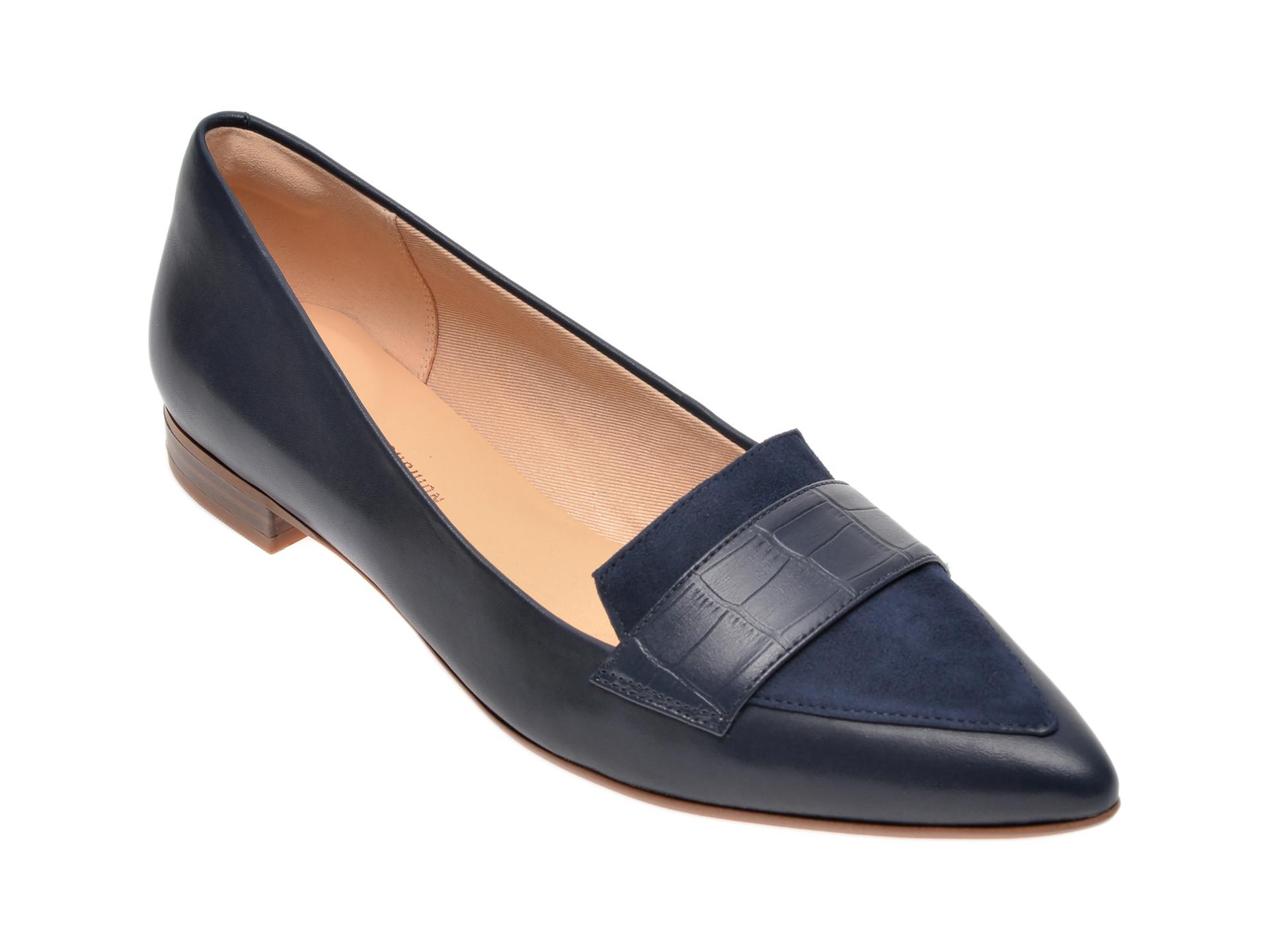 Pantofi CLARKS bleumarin, Laina15 Loafer, din piele naturala