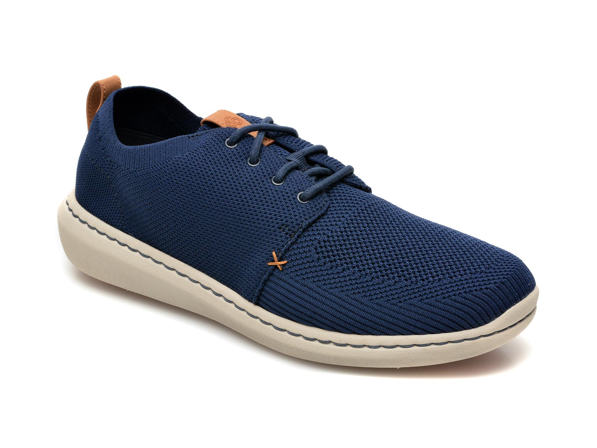 Pantofi CLARKS bleumarin, Step Urban Mix, din material textil imagine