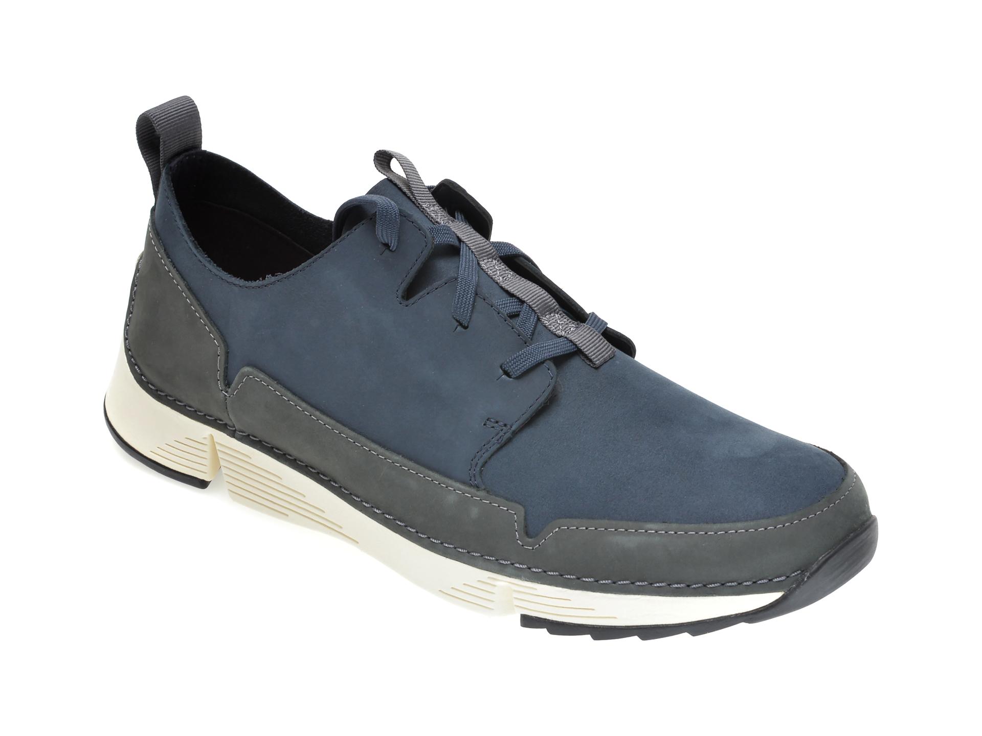 Pantofi CLARKS bleumarin, TRI SOLAR, din nabuc imagine
