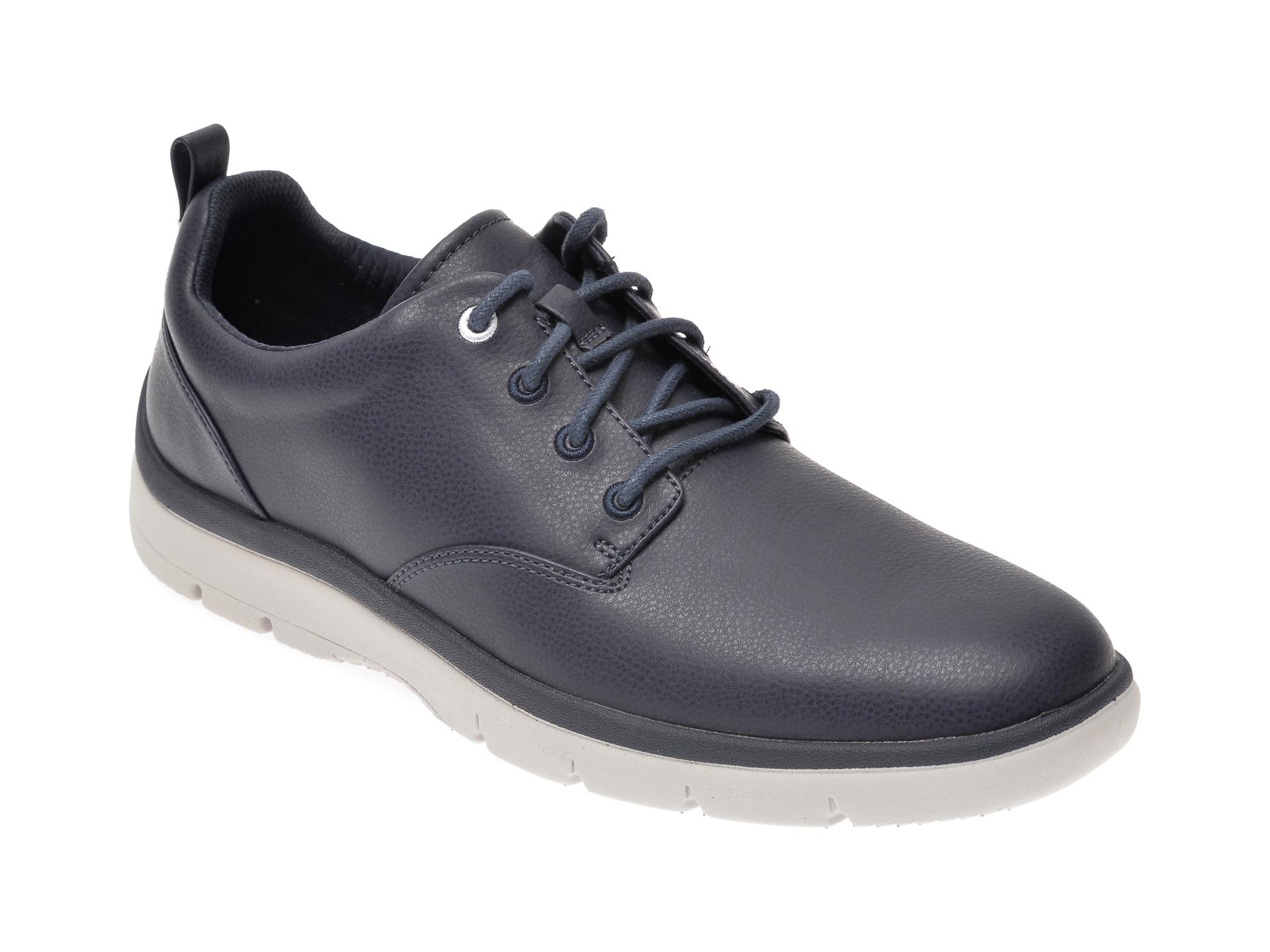 Pantofi CLARKS bleumarin, Tunsil Lane, din piele ecologica New