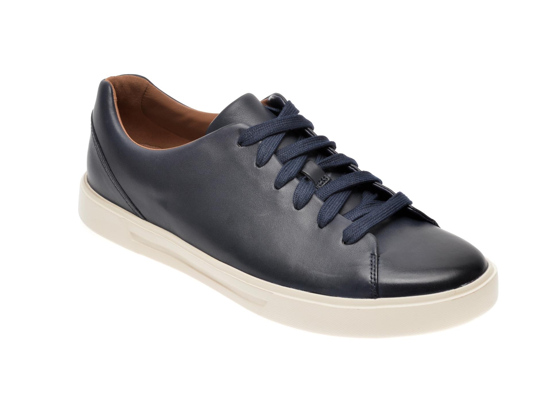 Pantofi CLARKS bleumarin, Un Costa Lace, din piele naturala imagine