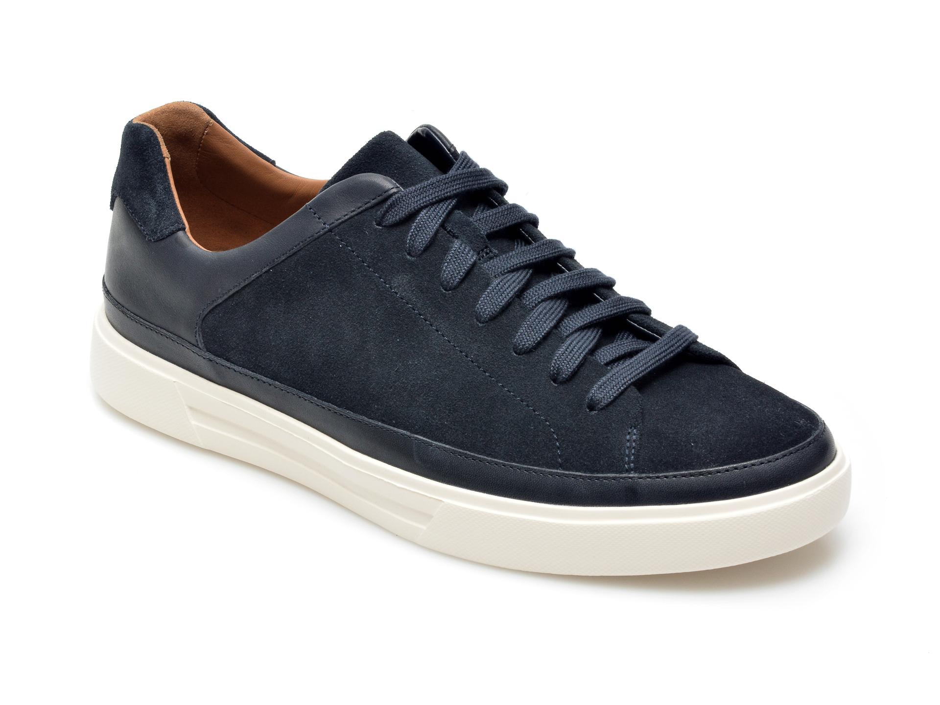 Pantofi CLARKS bleumarin, Un Costa Tie, din piele intoarsa imagine otter.ro 2021