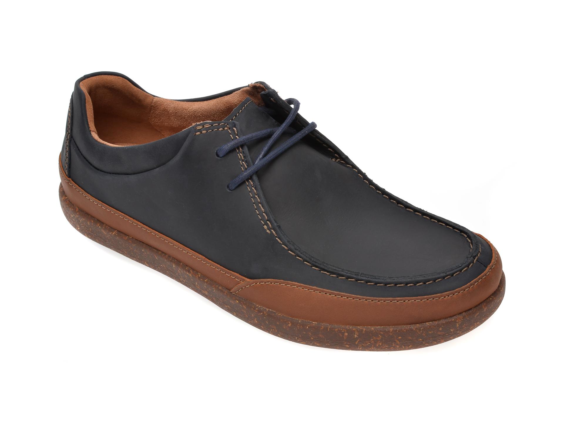 Pantofi Clarks Bleumarin, Un Lisbon Walk, Din Piele Naturala