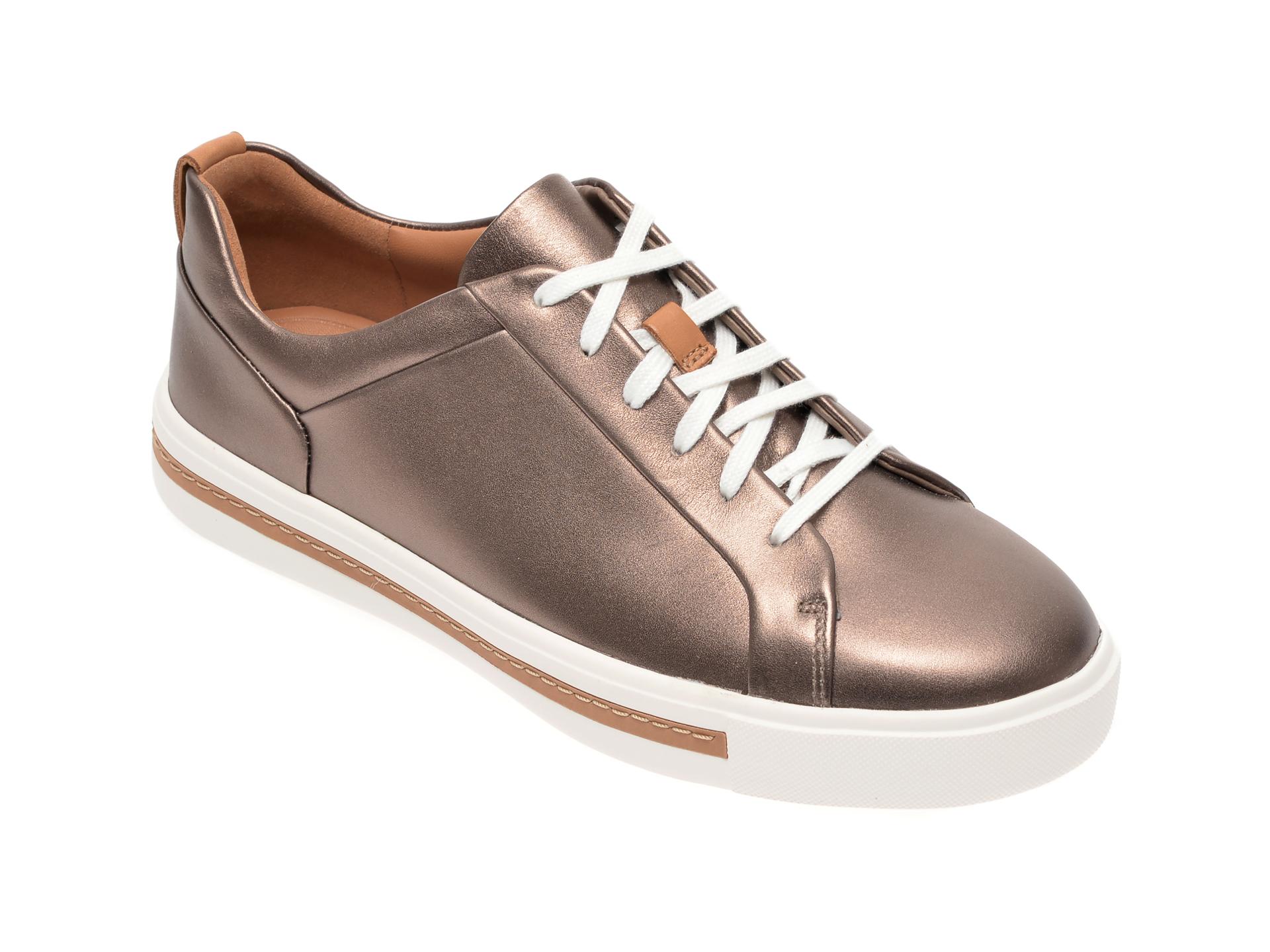 Pantofi CLARKS bronz, Un Maui Lace, din piele naturala