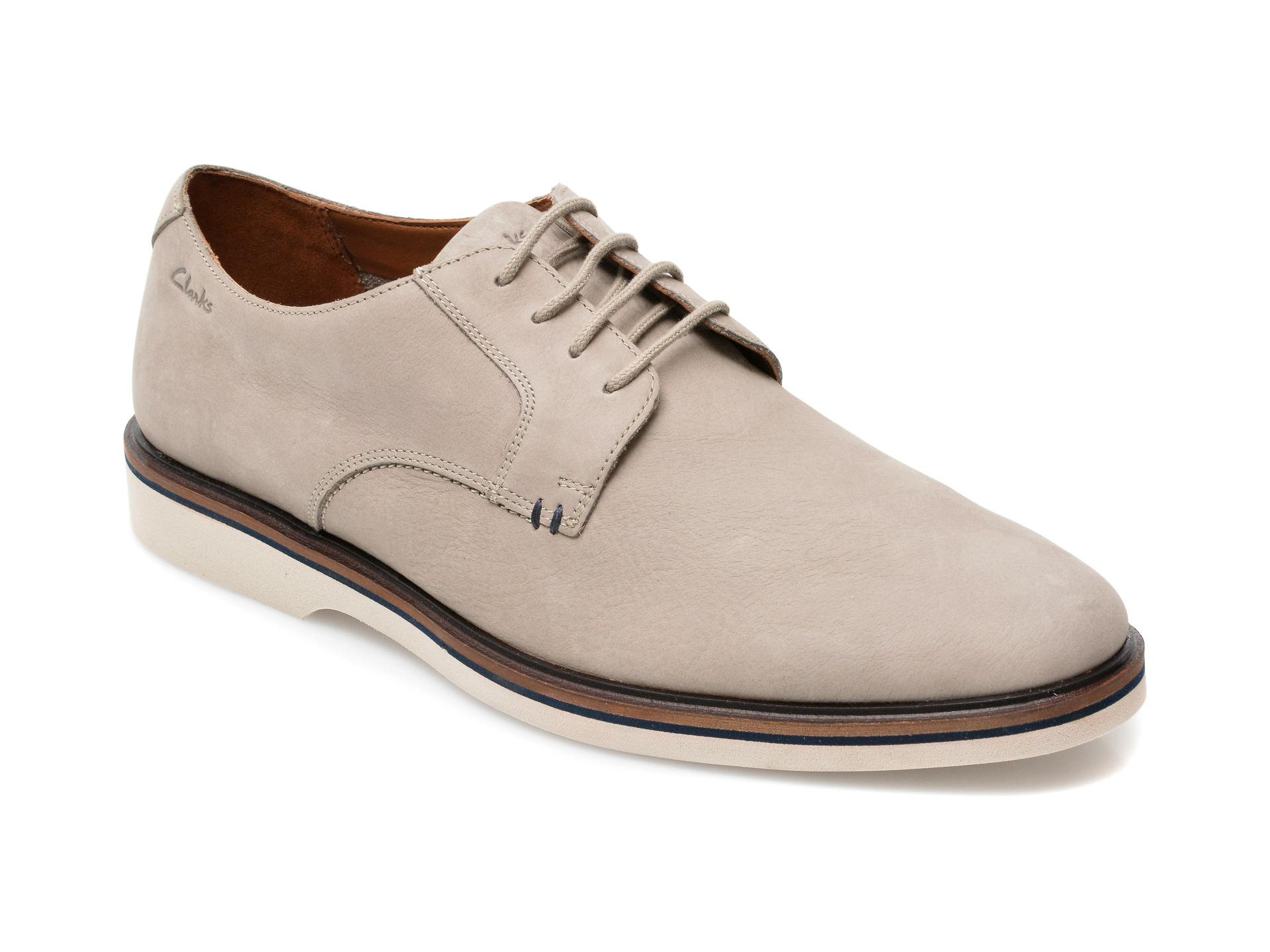 Pantofi CLARKS gri, Kitna Vibe, din nabuc