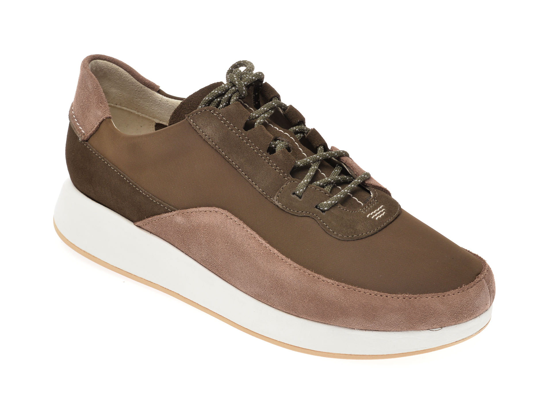Pantofi CLARKS kaki, Kiowa Pace, din material textil imagine