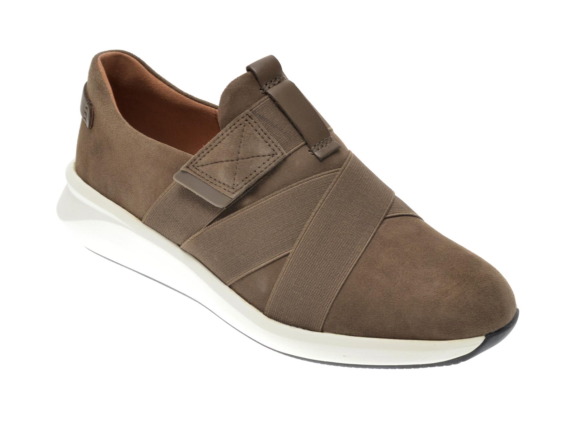 Pantofi CLARKS kaki, UN RIO STRAP, din material textil si piele intoarsa imagine