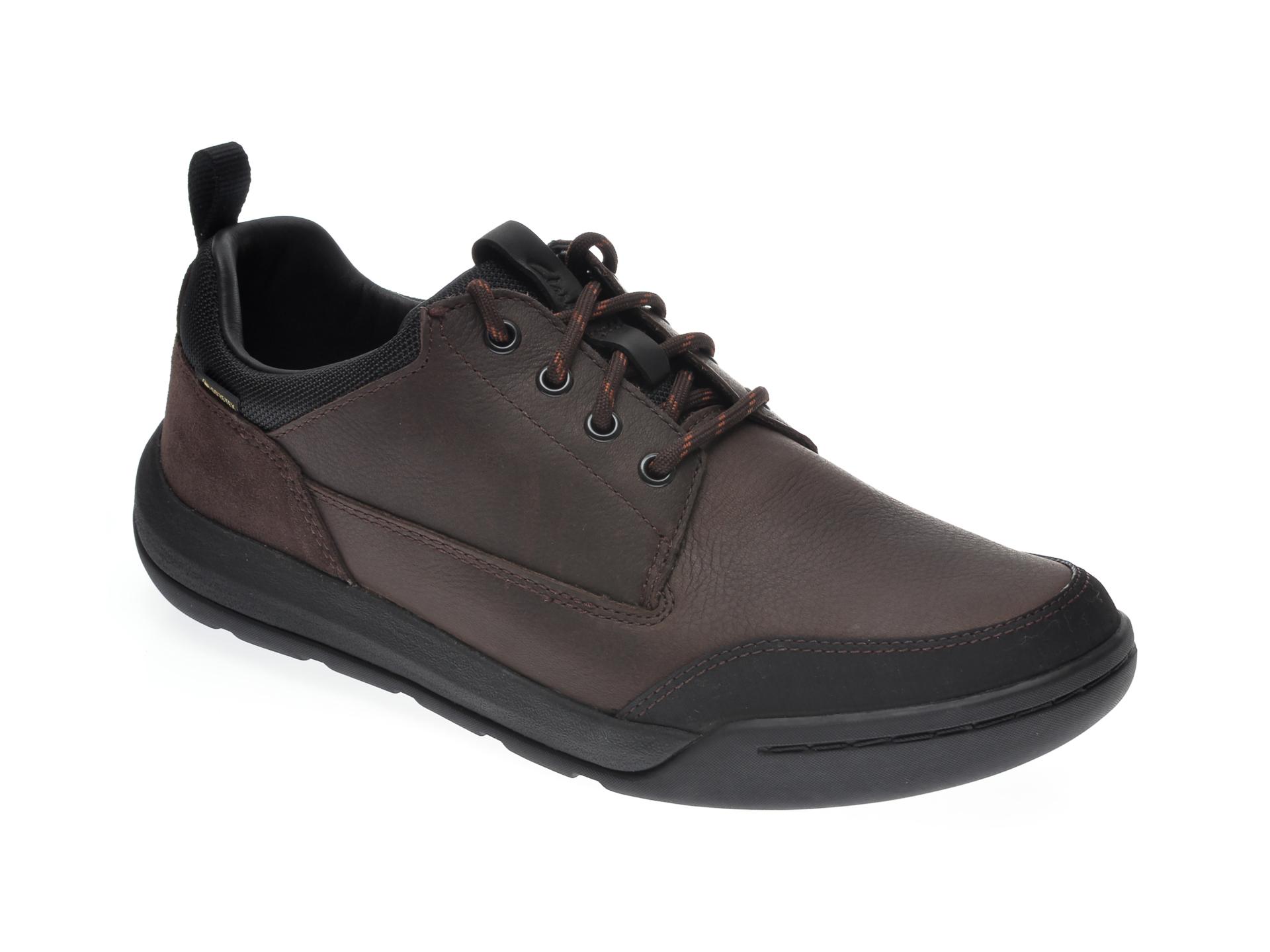 Pantofi CLARKS maro, ASHCOMBE LO GTX, din piele naturala imagine