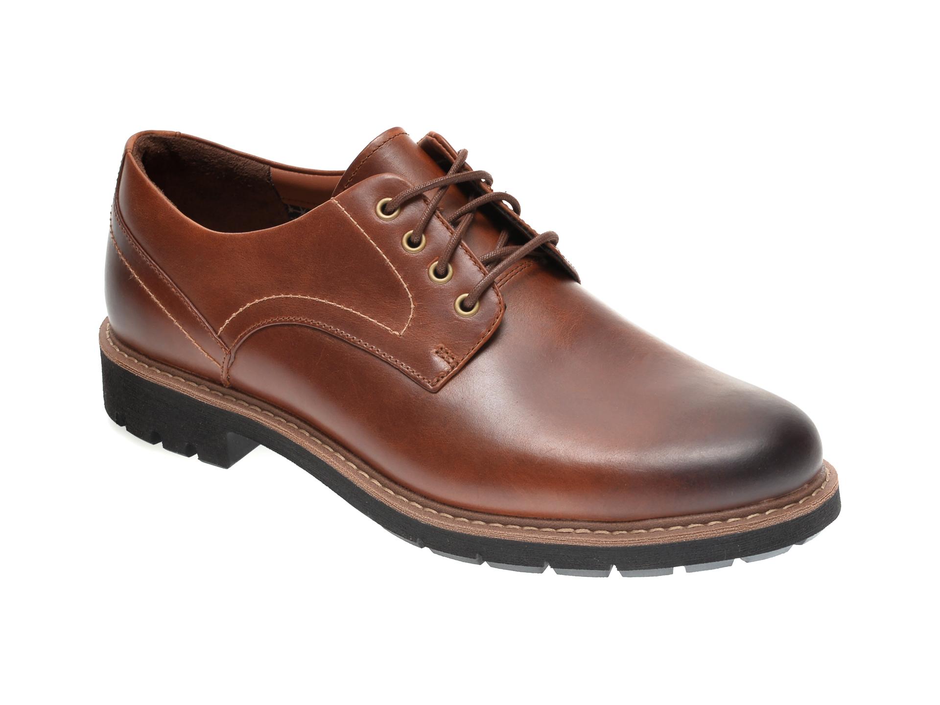 Pantofi CLARKS maro, BATCOMBE HALL, din piele naturala imagine