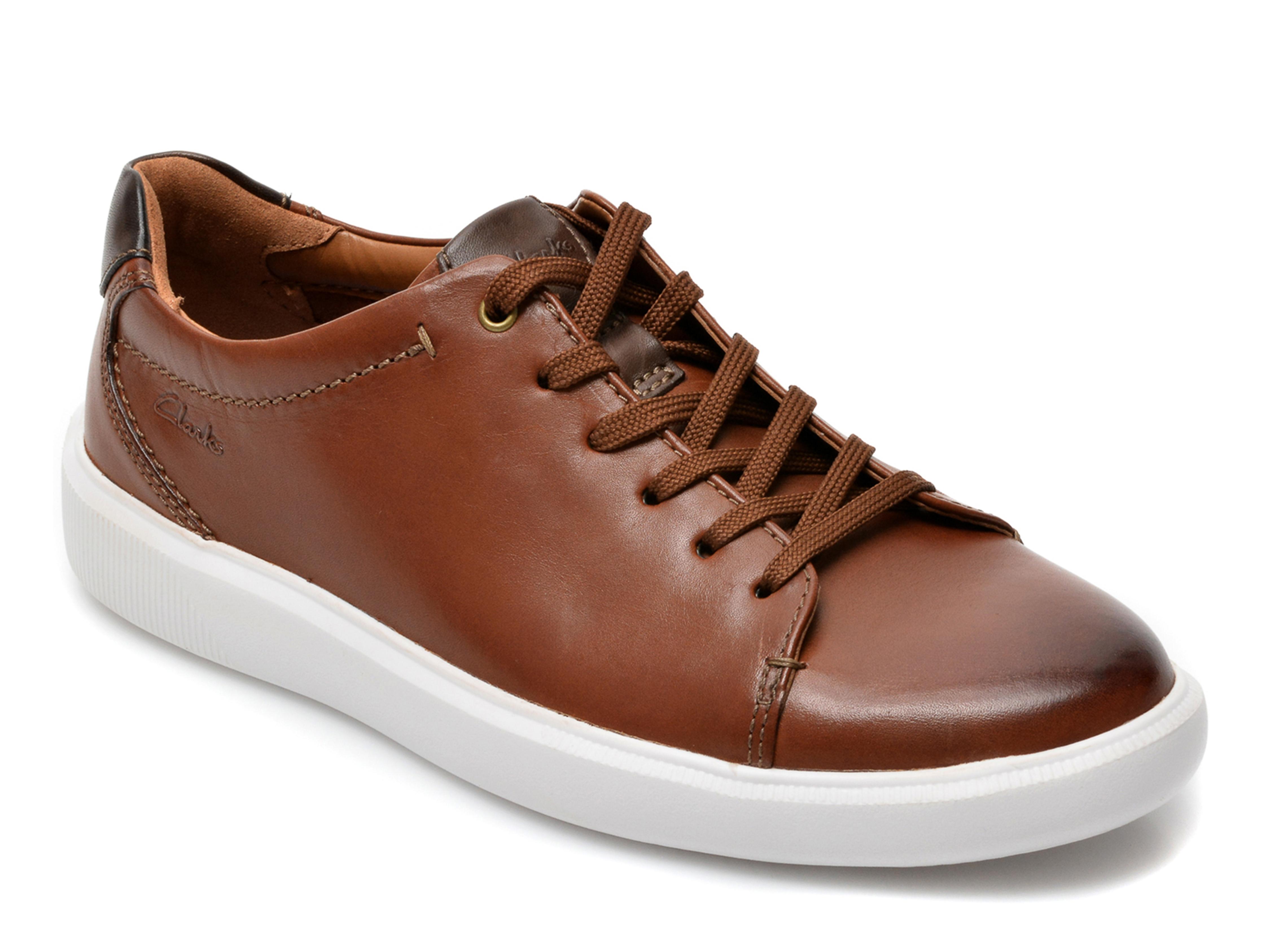 Pantofi CLARKS maro, Cambro Low, din piele naturala imagine otter.ro 2021