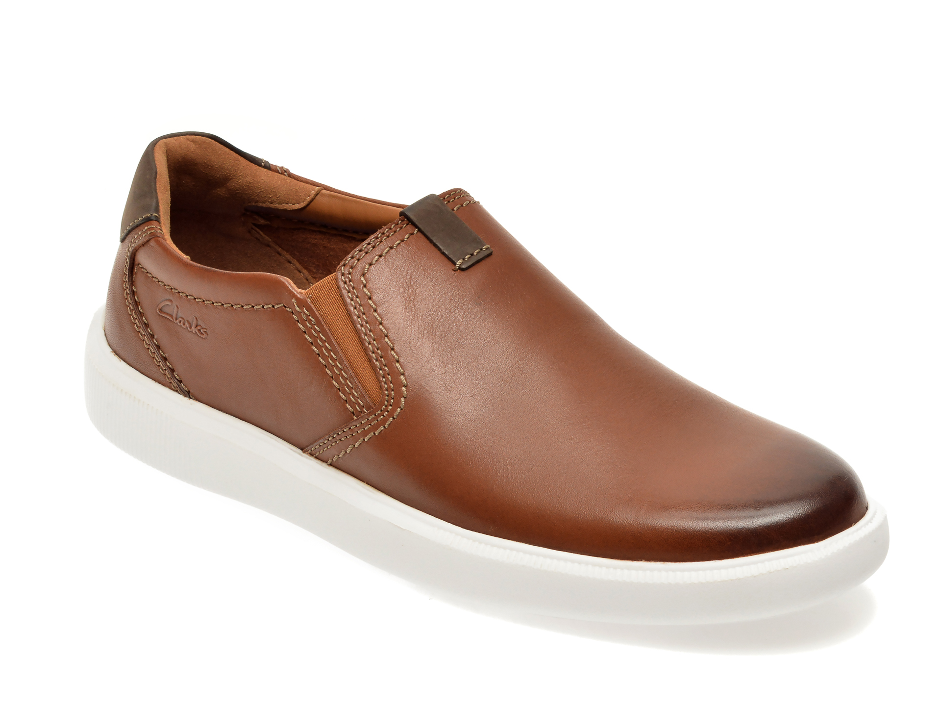 Pantofi CLARKS maro, Cambro Step, din piele naturala imagine