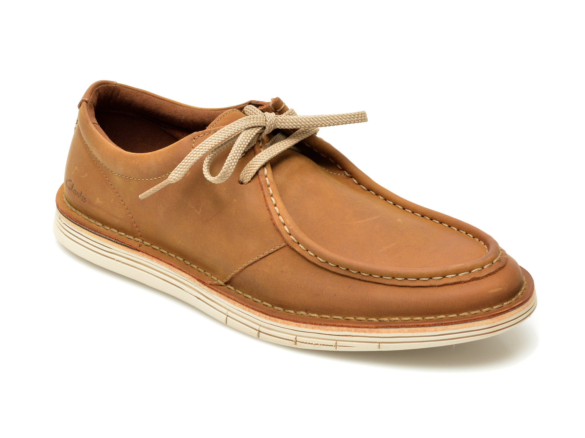 Pantofi CLARKS maro, Forge Run, din nabuc imagine
