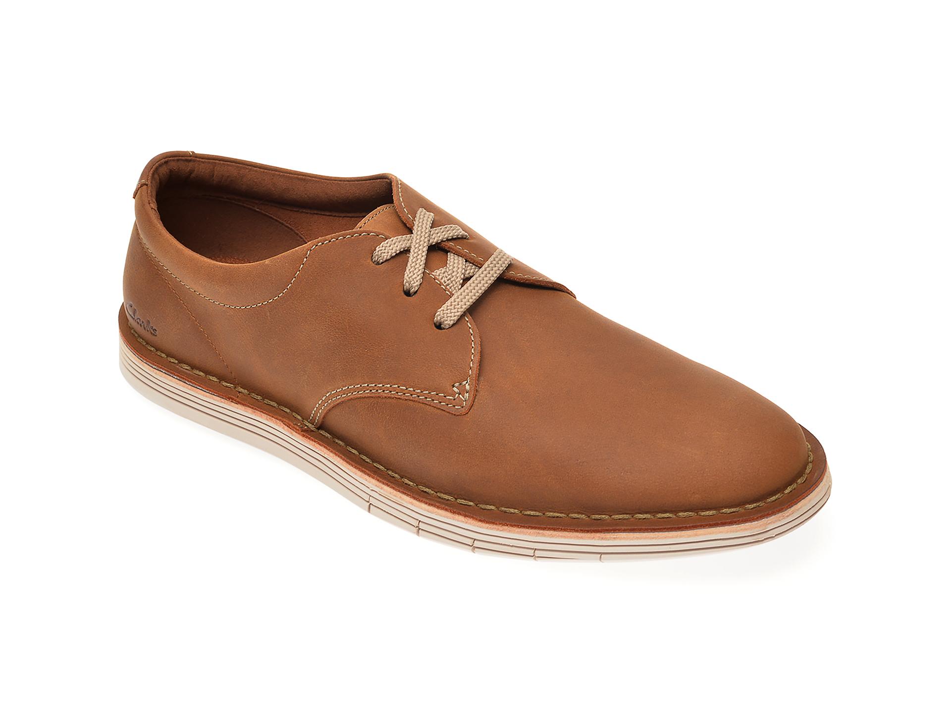 Pantofi CLARKS maro, Un Costa Lace, din piele naturala