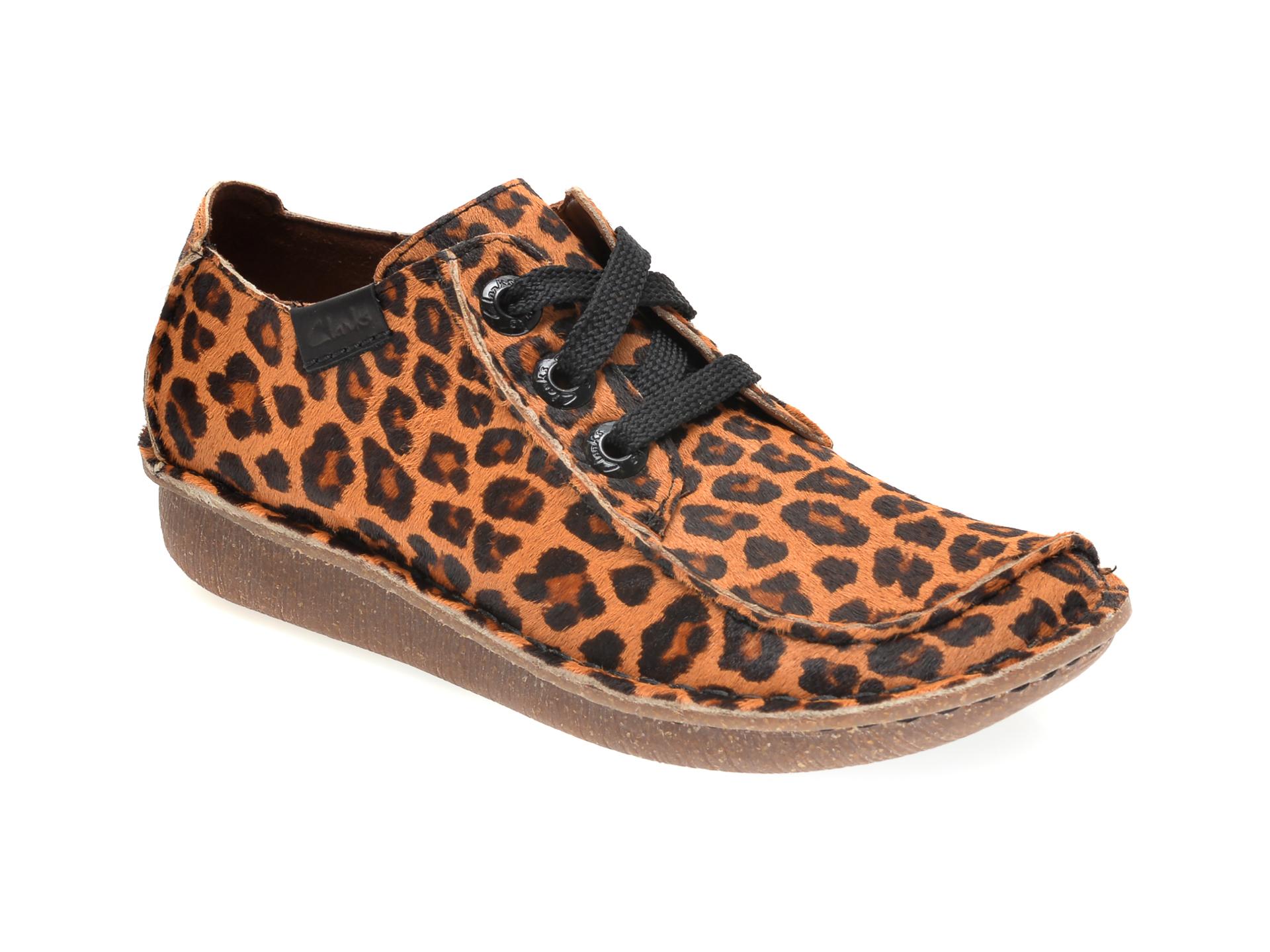 Pantofi CLARKS maro, FUNNY DREAM, din piele naturala imagine