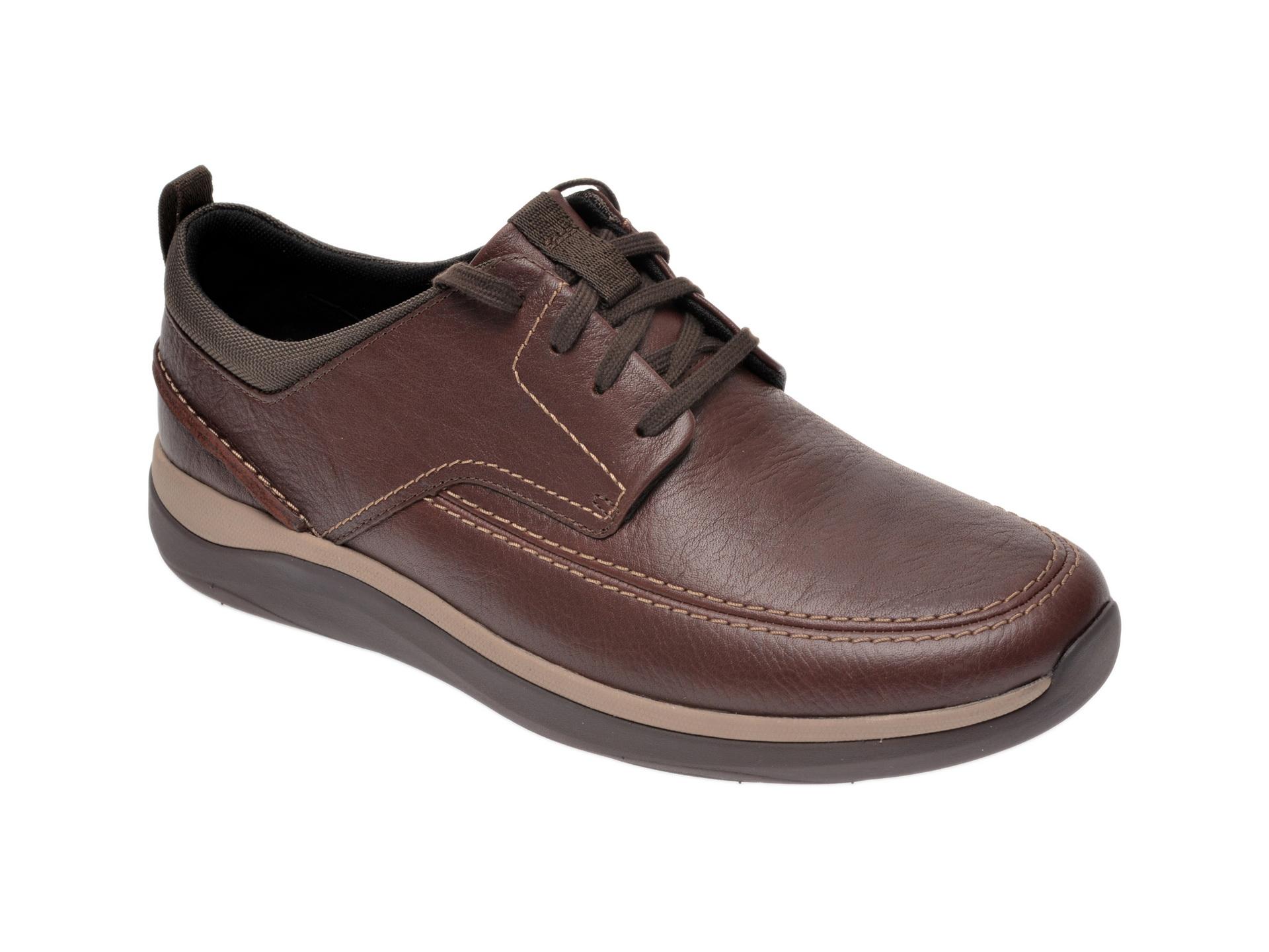 Pantofi CLARKS maro, Garratt Street, din piele naturala imagine otter.ro