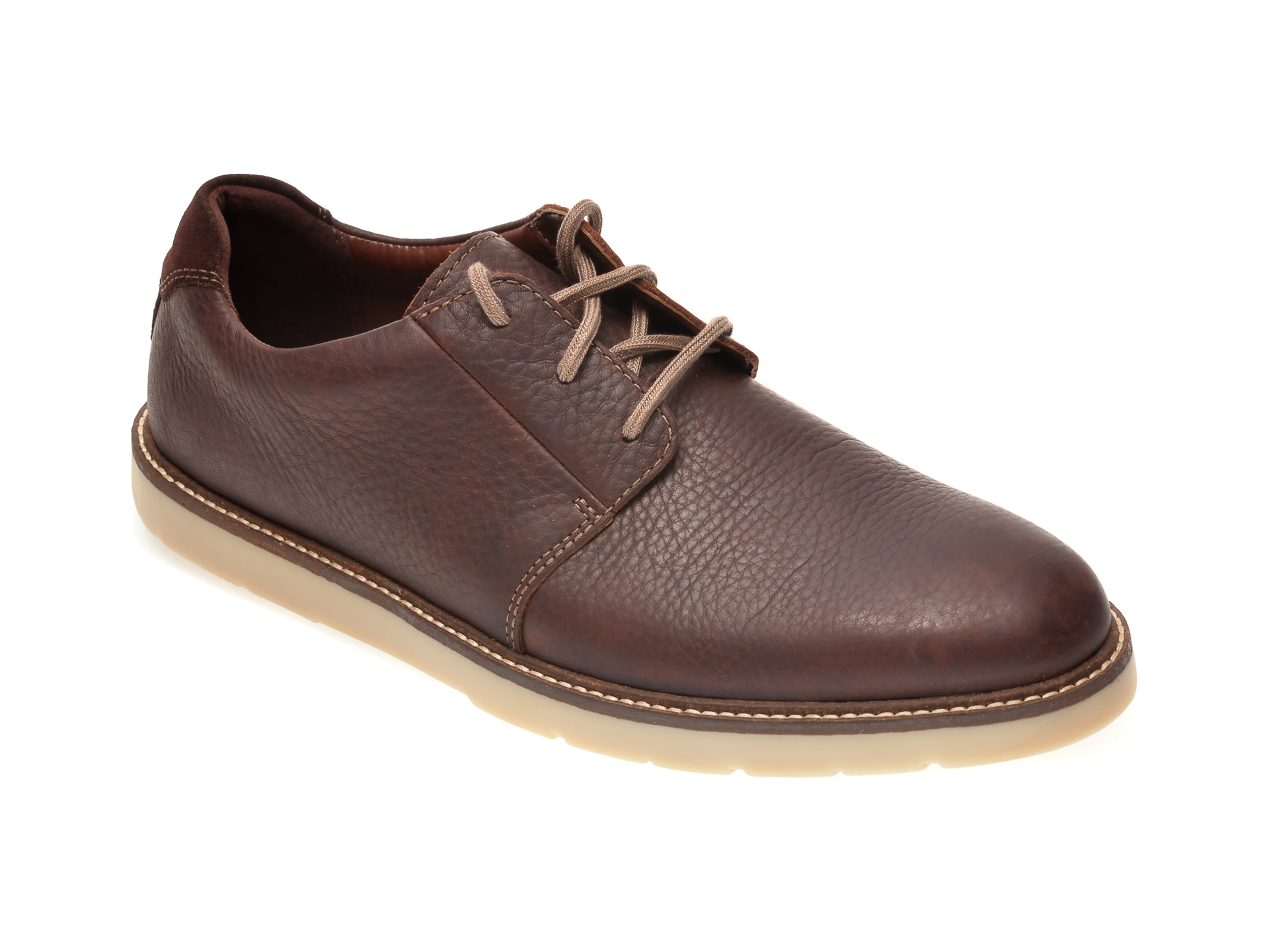 Pantofi CLARKS maro, GRANDIN PLAIN, din piele naturala imagine