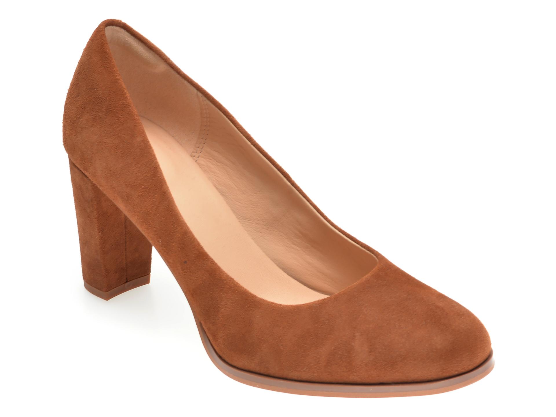 Pantofi CLARKS maro, KAYLIN CARA, din piele intoarsa imagine
