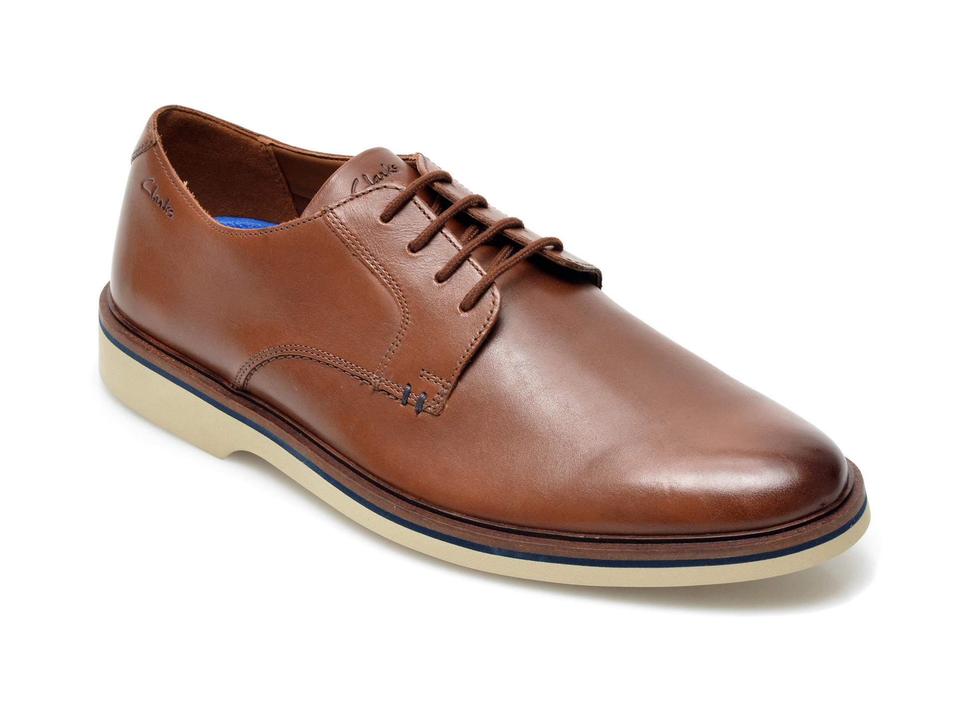 Pantofi CLARKS maro, Malwood Plain, din piele naturala imagine otter.ro 2021