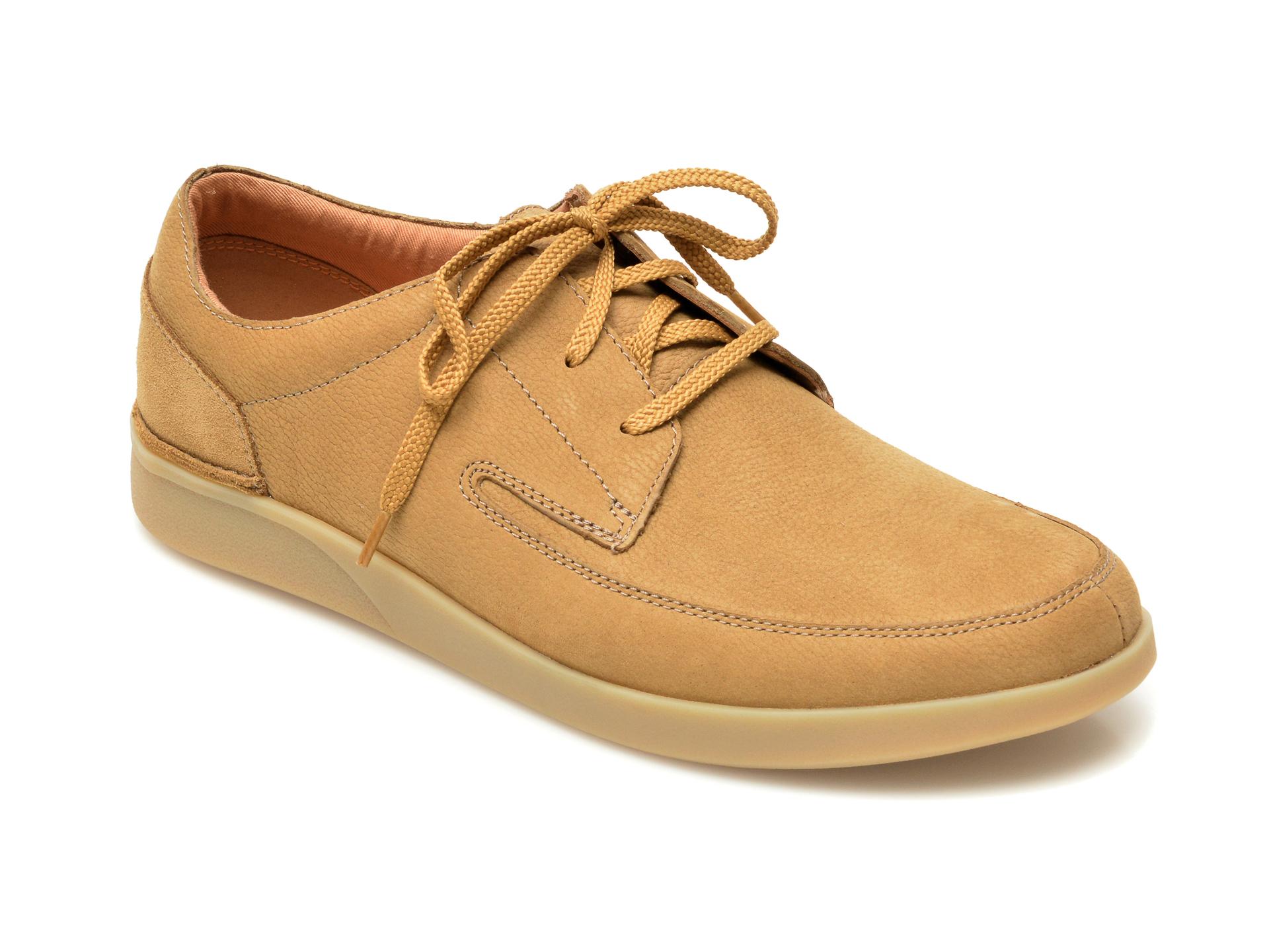 Pantofi CLARKS maro, Oakland Craft, din nabuc imagine otter.ro