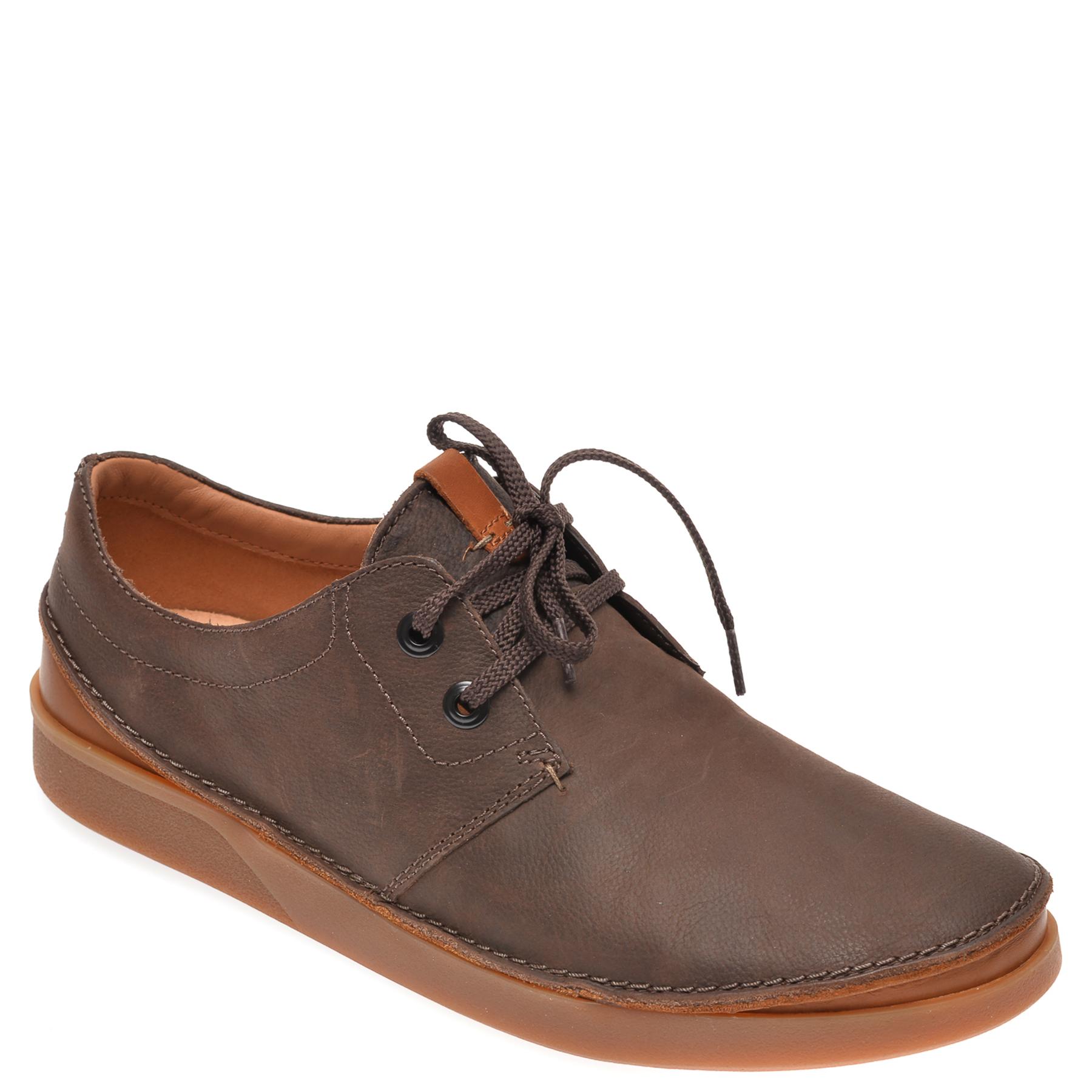 Pantofi CLARKS maro, Oakland Lace , din piele naturala imagine