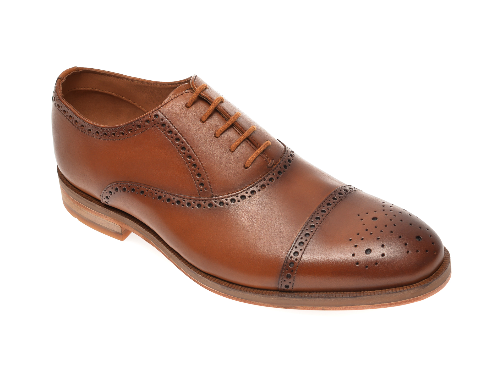 Pantofi CLARKS maro, Oliver Limit, din piele naturala imagine