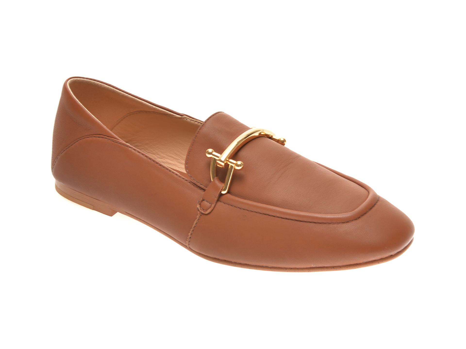Pantofi CLARKS maro, PURE 2 LOAFER, din piele naturala imagine
