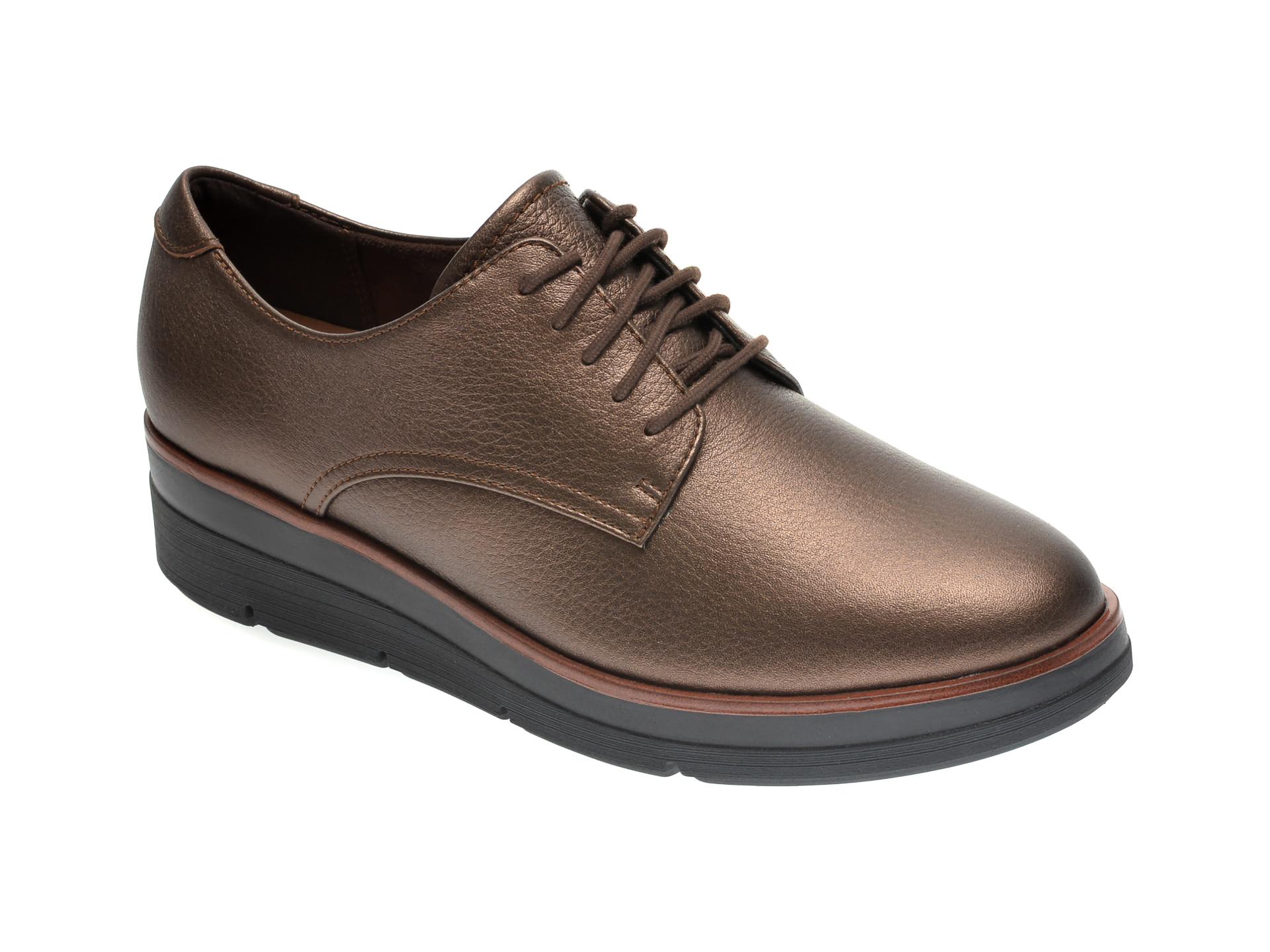 Pantofi CLARKS maro, SHAYLIN LACE, din piele naturala
