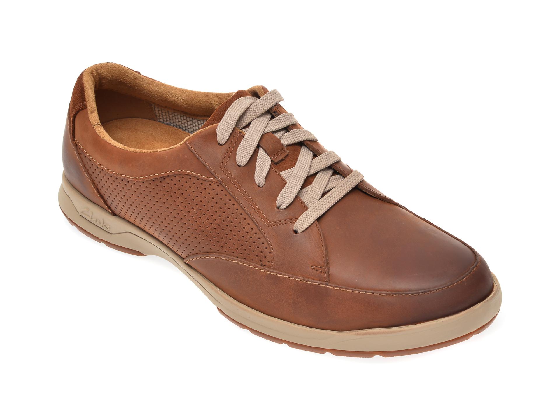 Pantofi CLARKS maro, Stafford Park5, din piele naturala