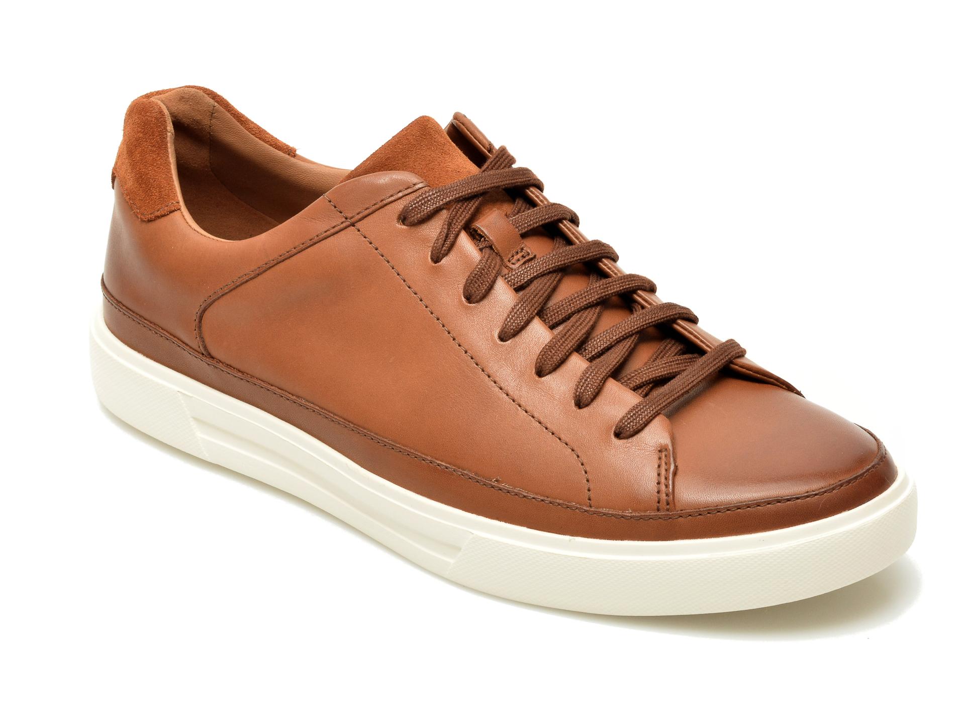 Pantofi CLARKS maro, Un Costa Tie, din piele naturala New