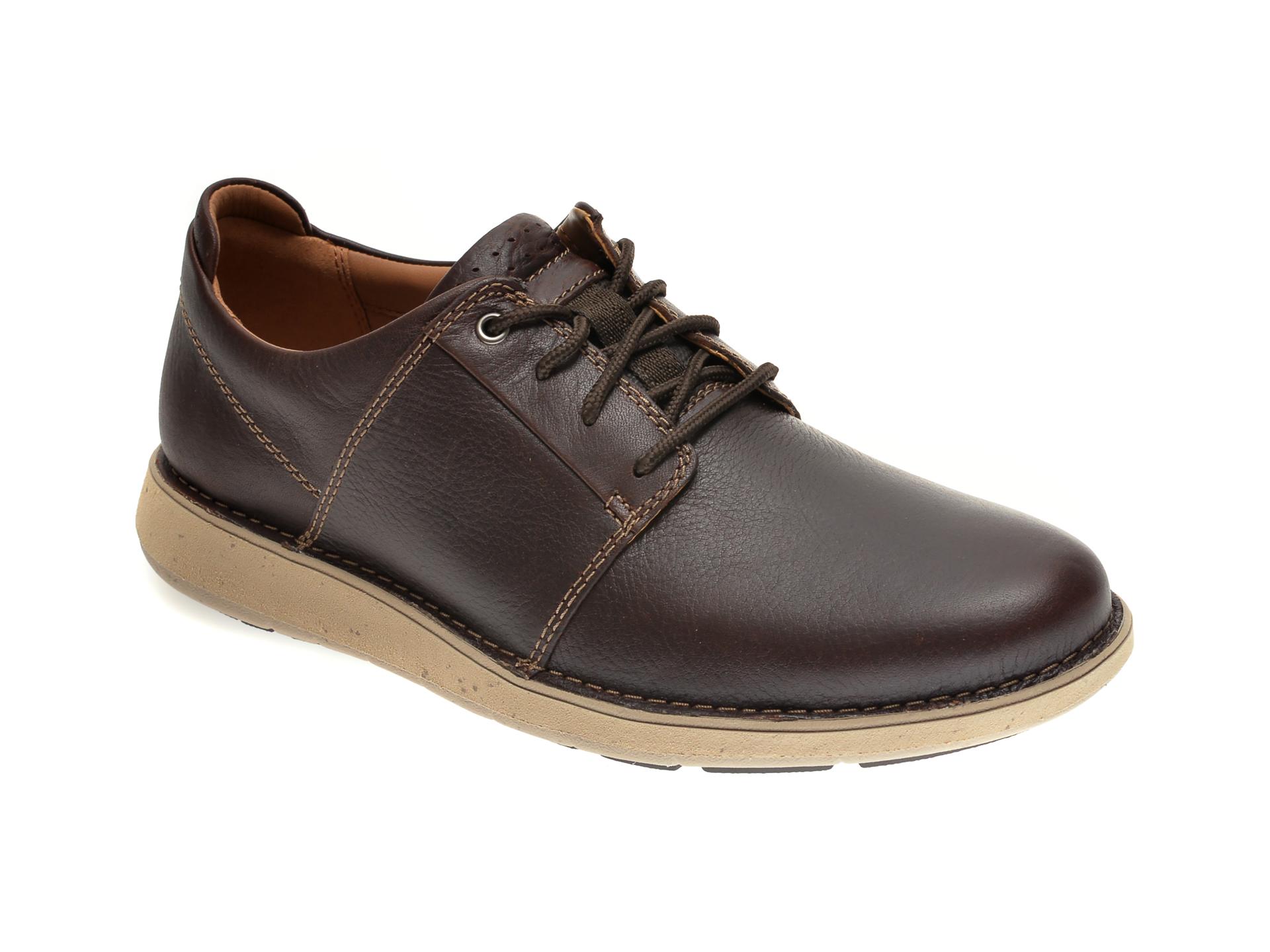 Pantofi Clarks Maro, Un Larvik Lace, Din Piele Naturala